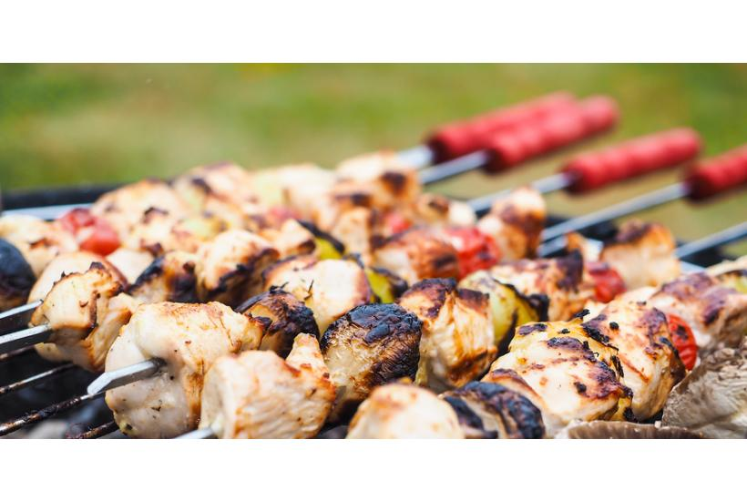 Healthy Dinner Recipe: Grilled Chicken Kabobs over Couscous