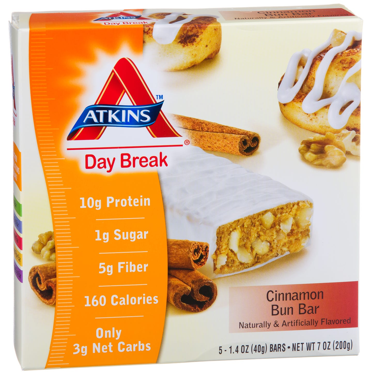 Atkins Day Break Bars - Cinnamon Bun