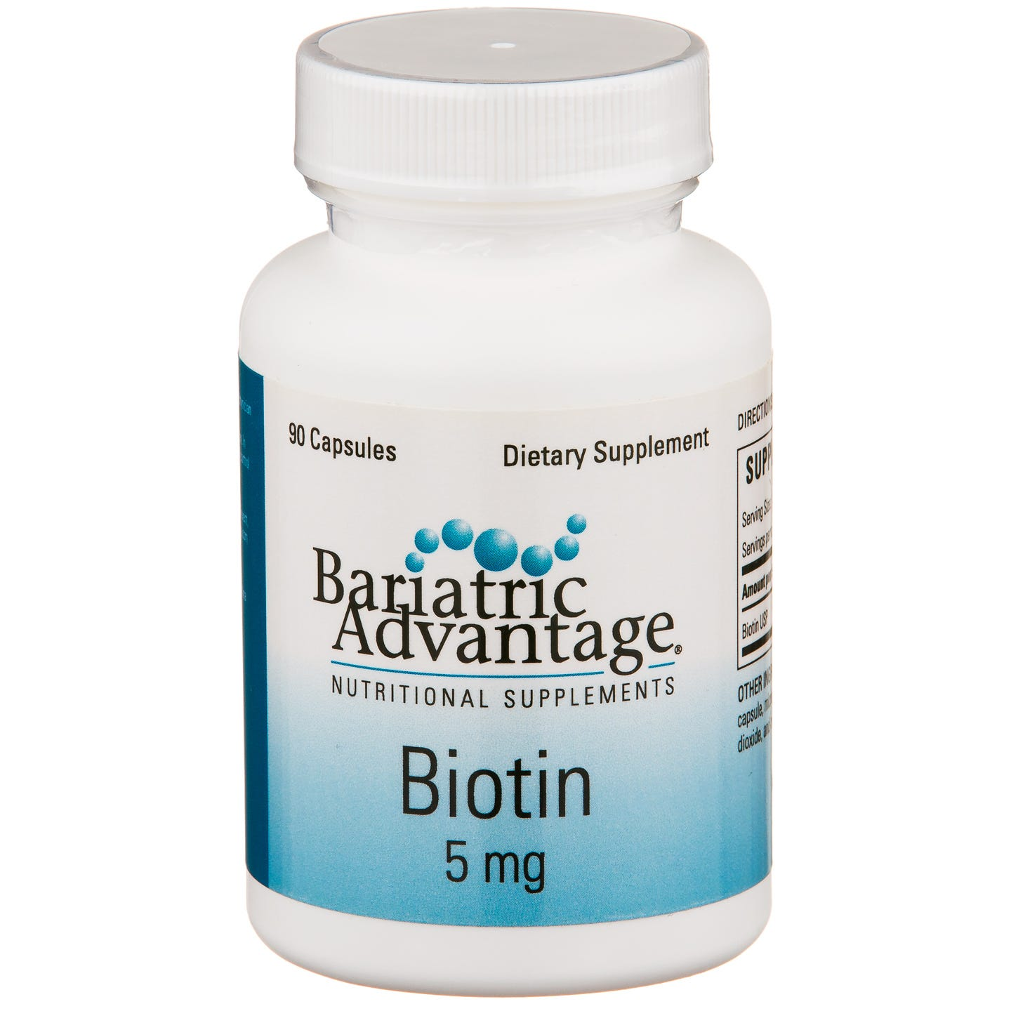 Biotin 5mg (90 ct) - Bariatric Advantage - Rapid Diet Weight Loss Products Shop