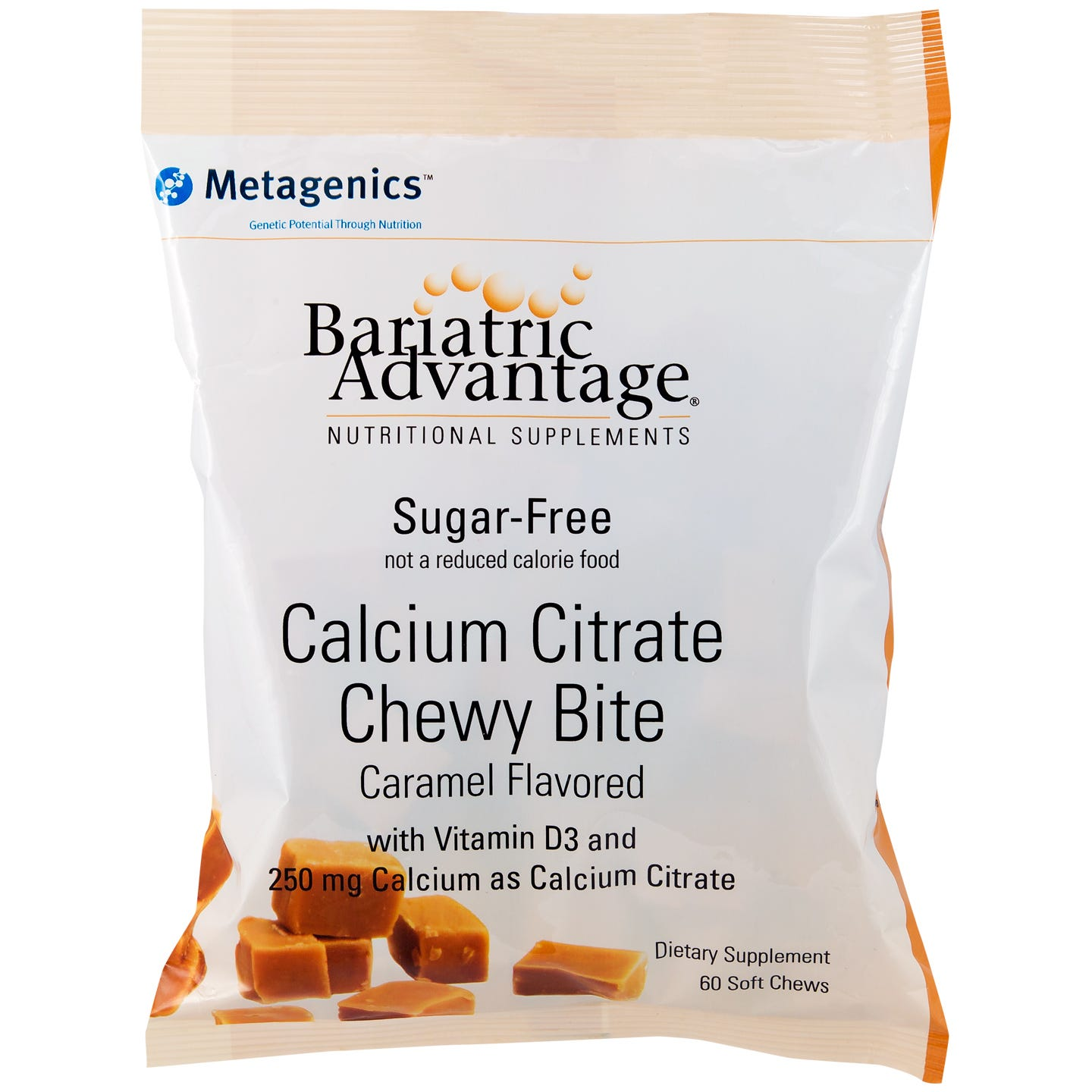 Calcium Citrate Chewy Bites Caramel (60 ct) - Bariatric Advantage - Rapid Diet Weight Loss Products Shop