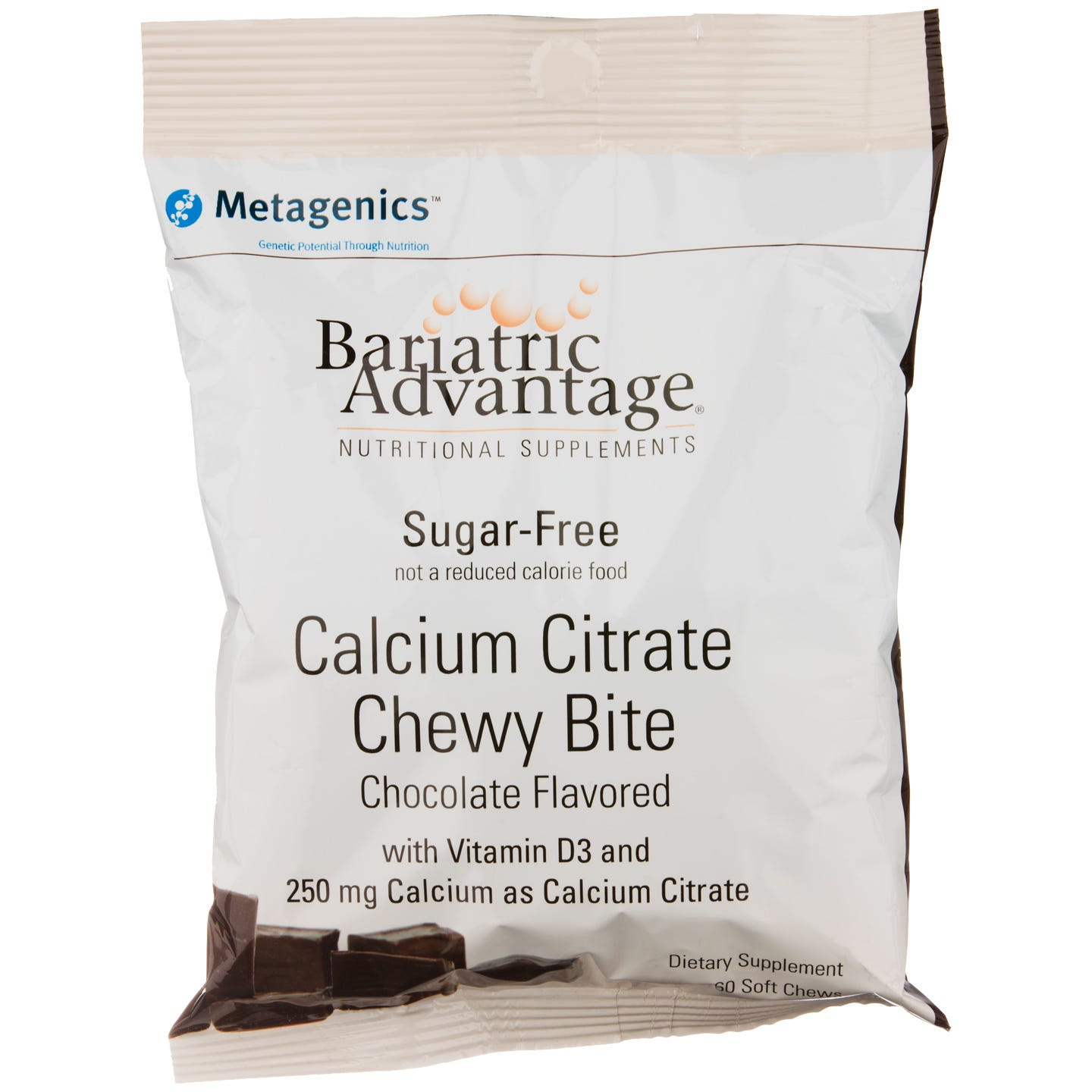 Calcium Citrate Chewy Bites Chocolate (60 ct) - Bariatric Advantage - Rapid Diet Weight Loss Products Shop