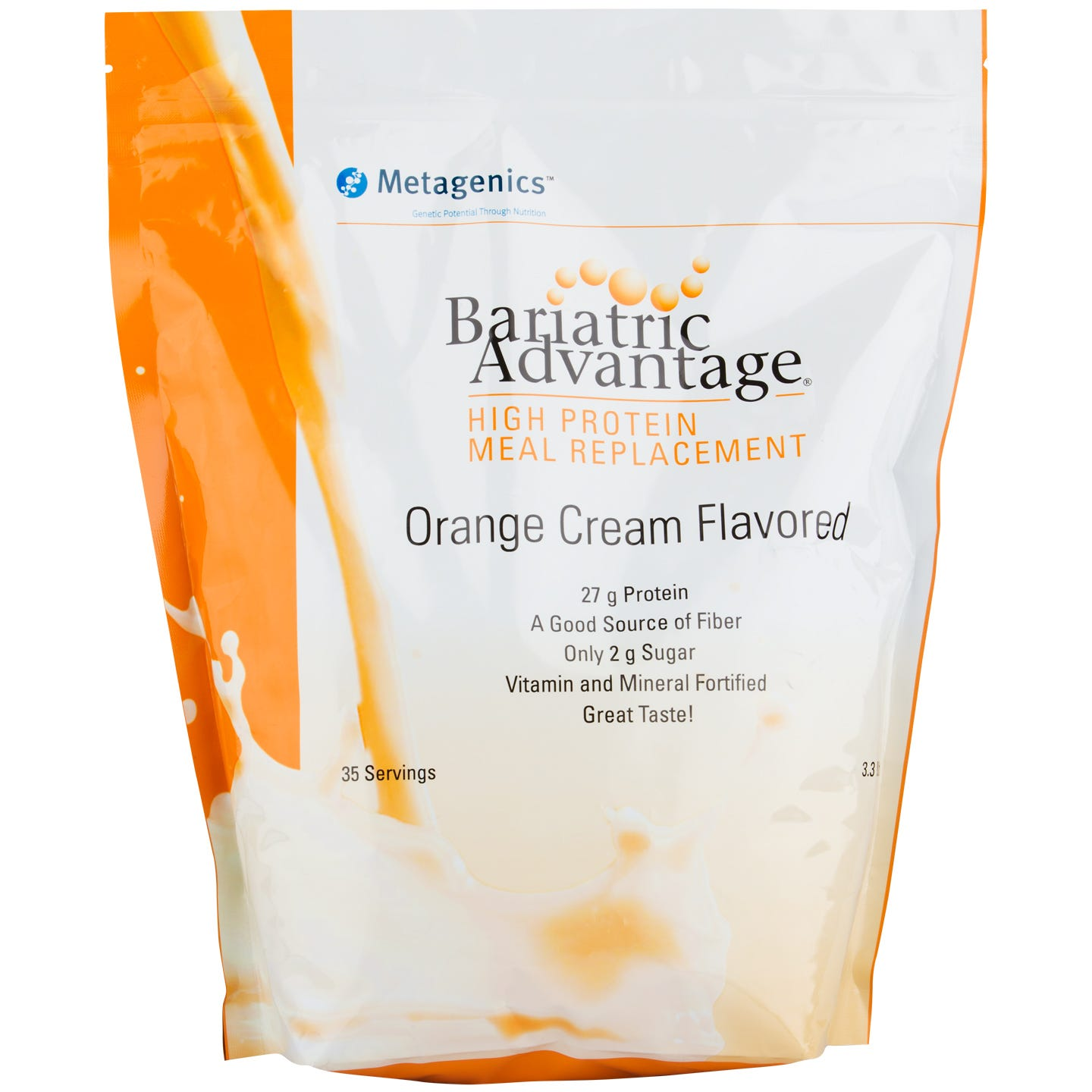 High Protein Meal Replacement Shakes Orange Cream 35 Servings - Bariatric Advantage