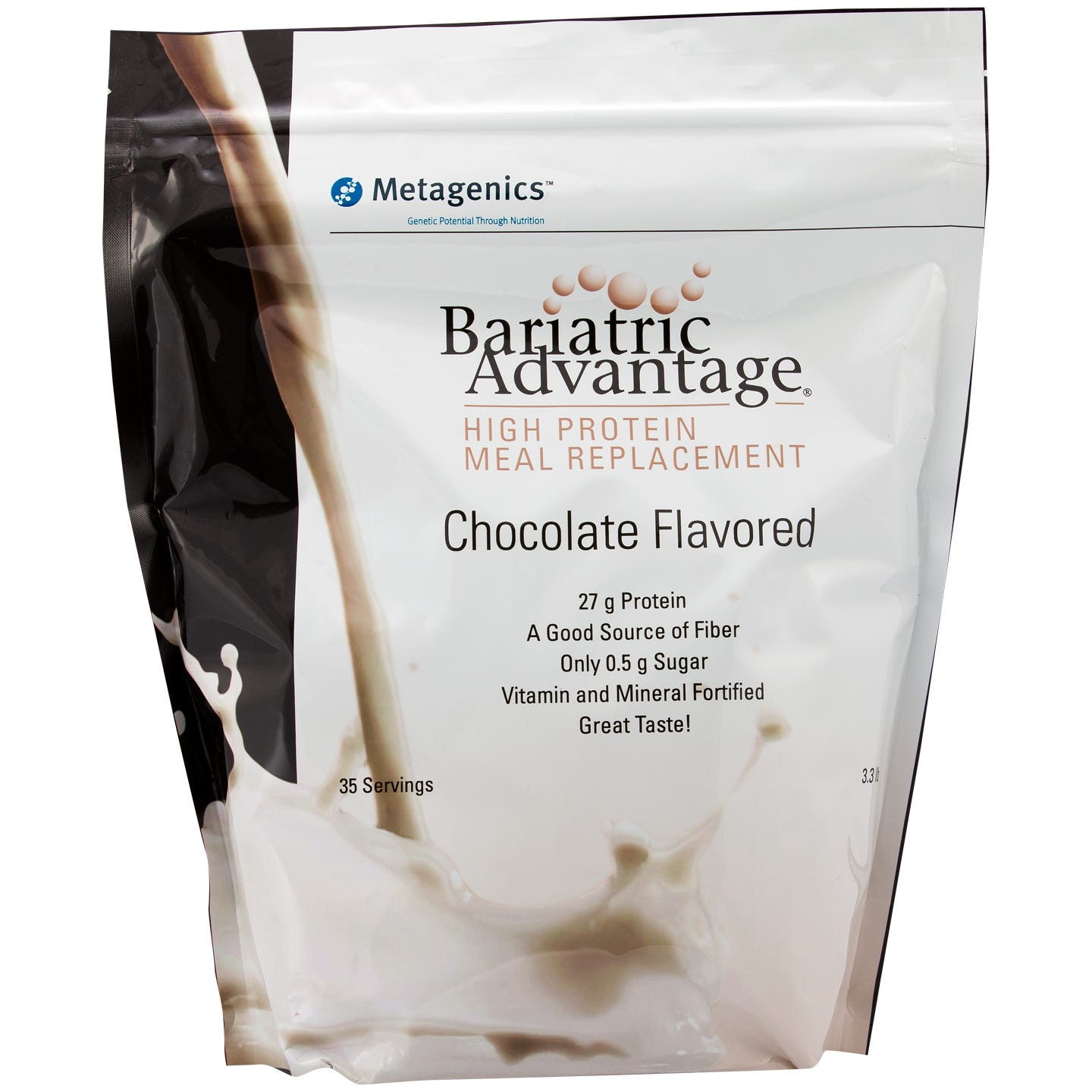 High Protein Meal Replacement Shakes Chocolate 35 Servings - Bariatric Advantage