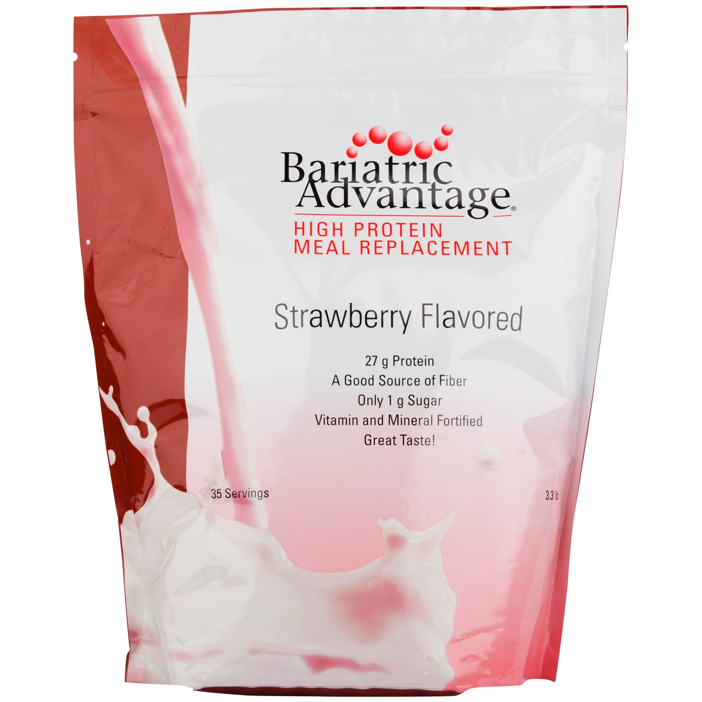 High Protein Meal Replacement Shakes Strawberry 35 Servings - Bariatric Advantage - Rapid Diet Weight Loss Products Shop
