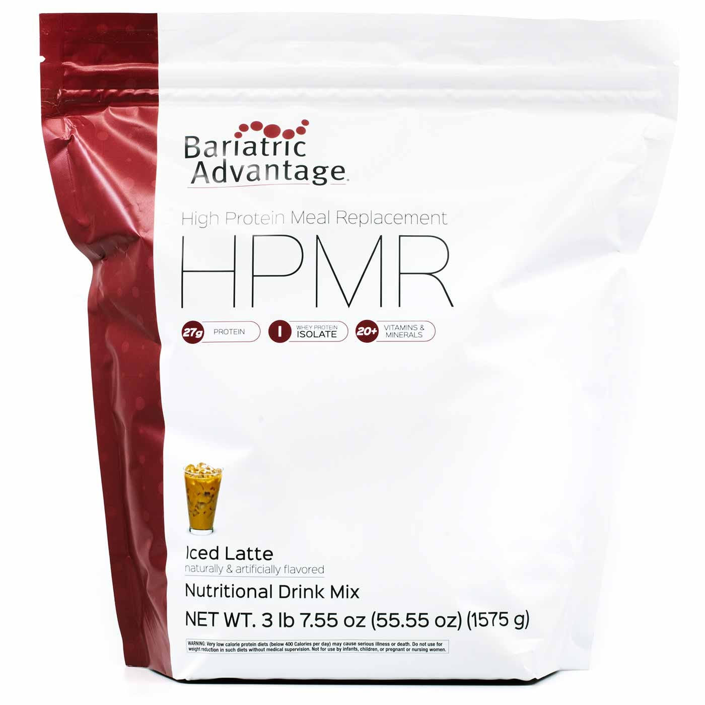 Bariatric Advantage High Protein Meal Replacement, Iced Latte (55oz)