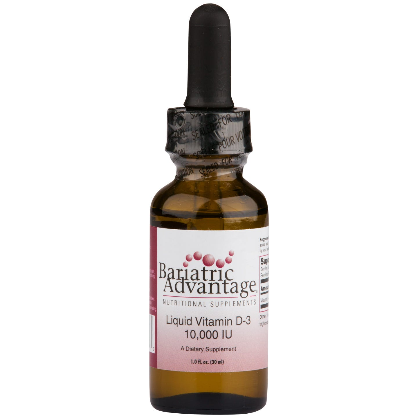 Liquid Emulsion Vitamin D3 1 fl oz, Bariatric Advantage - Rapid Diet Weight Loss Products Shop