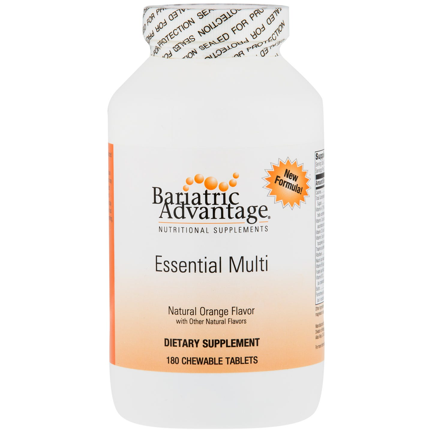 Essential Multi Chewable Orange (180 ct) - Bariatric Advantage - Rapid Diet Weight Loss Products Shop