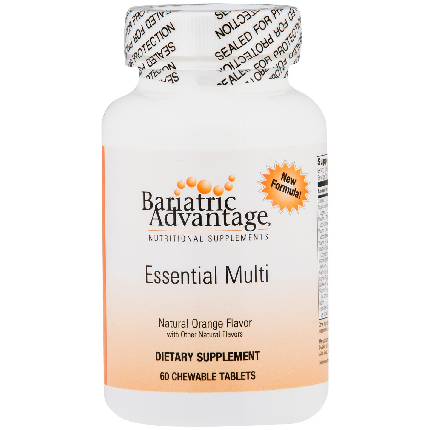 Essential Multi Chewable Orange (60 ct) - Bariatric Advantage - Rapid Diet Weight Loss Products Shop