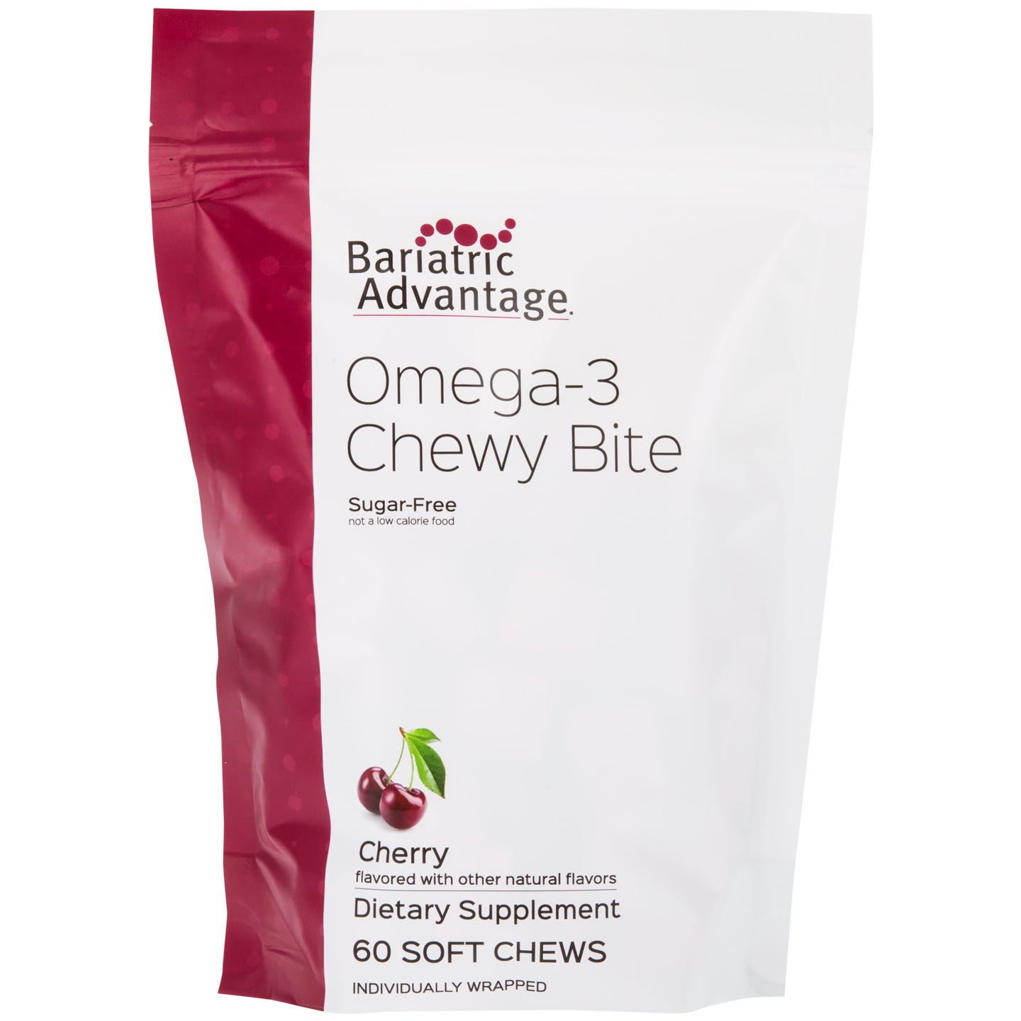 Omega-3 Chewy Bites Cherry (60 ct) – Bariatric Advantage