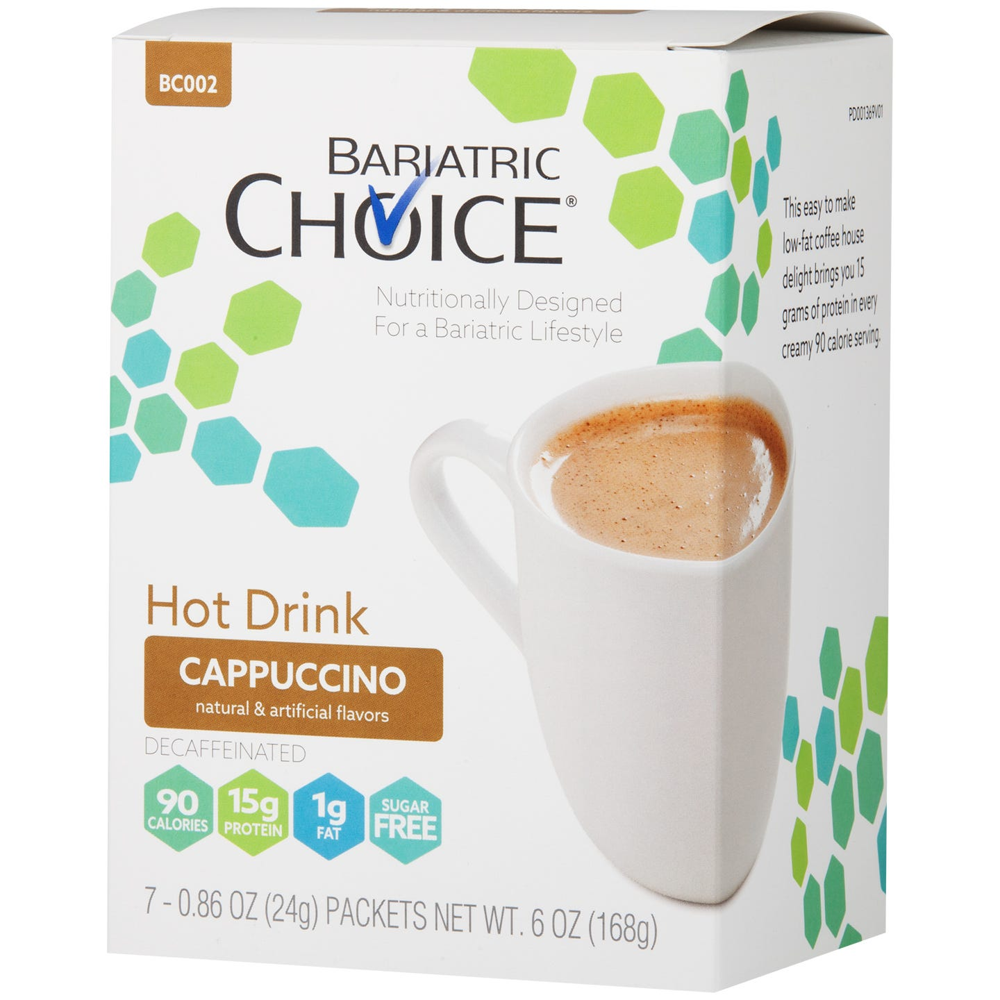 Bariatric Choice Hot Drink, Cappuccino (7ct)