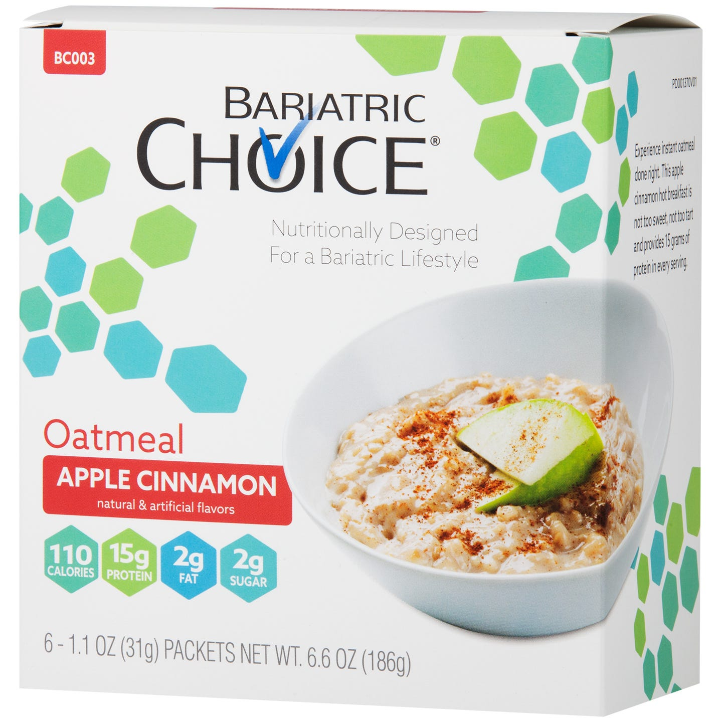 picture of Bariatric Choice Oatmeal, Apple Cinnamon (6ct)