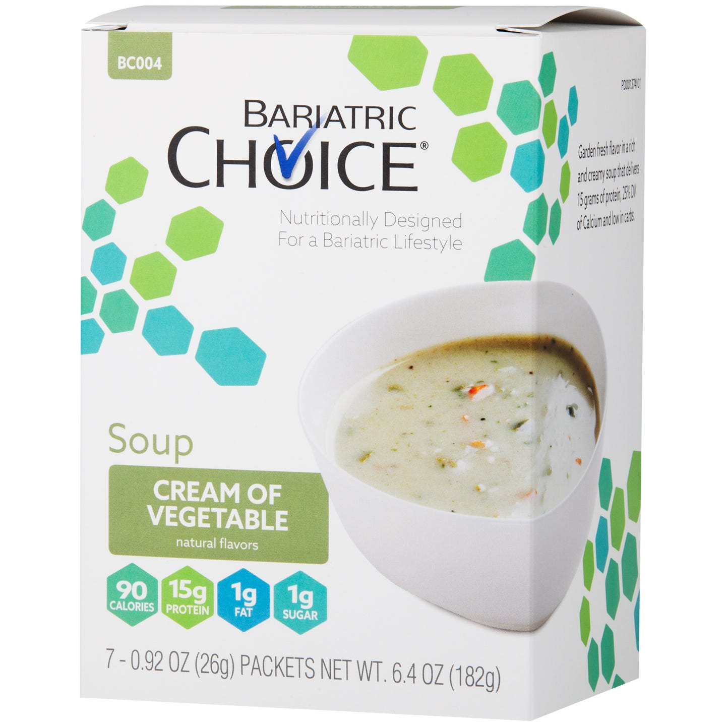 Bariatric Choice Soup, Cream of Vegetable (7ct)