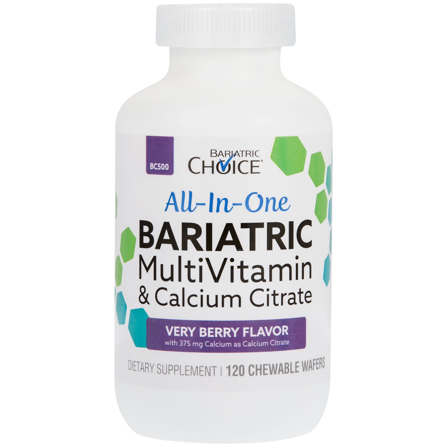 Bariatric Choice All-In-One Chewable MultiVitamin & Calcium Citrate, Very Berry (120ct)