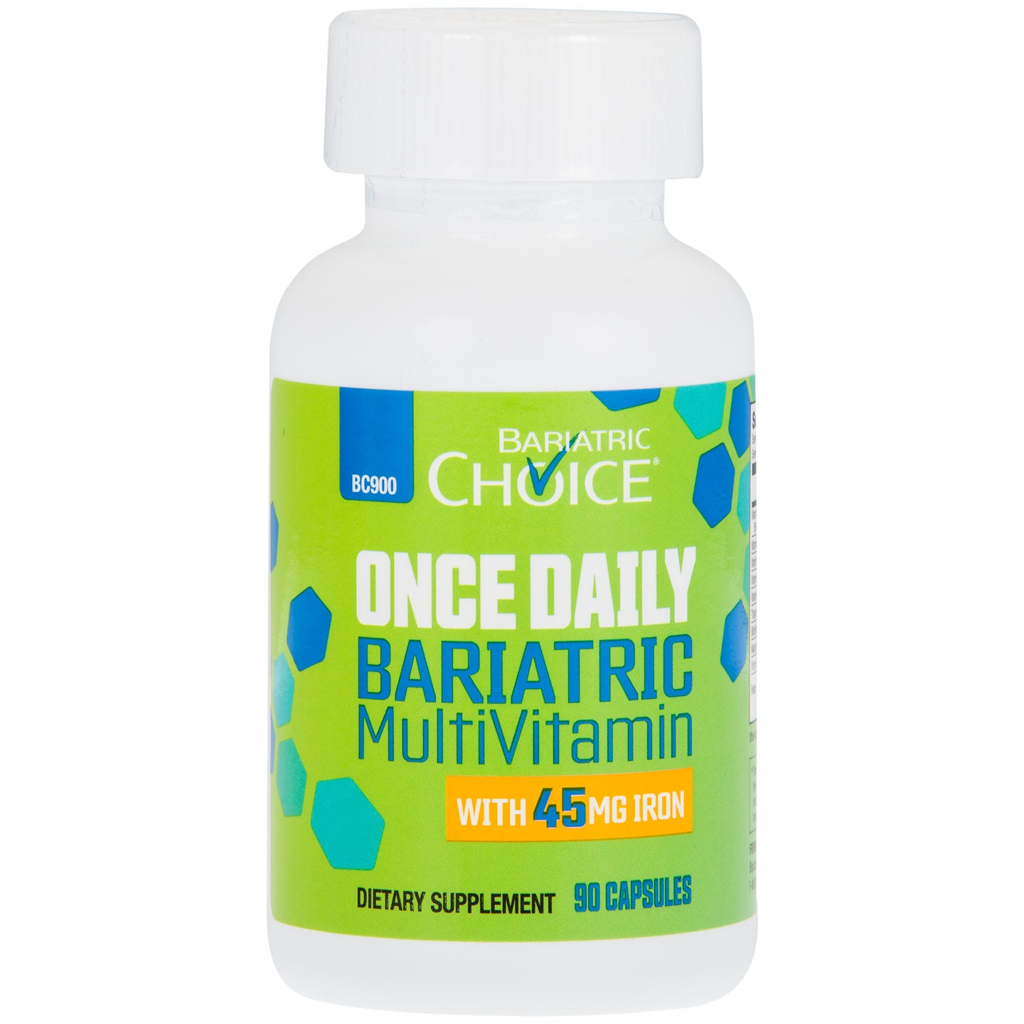 Bariatric Choice Once Daily Bariatric MultiVitamin with 45mg Iron, (90ct)