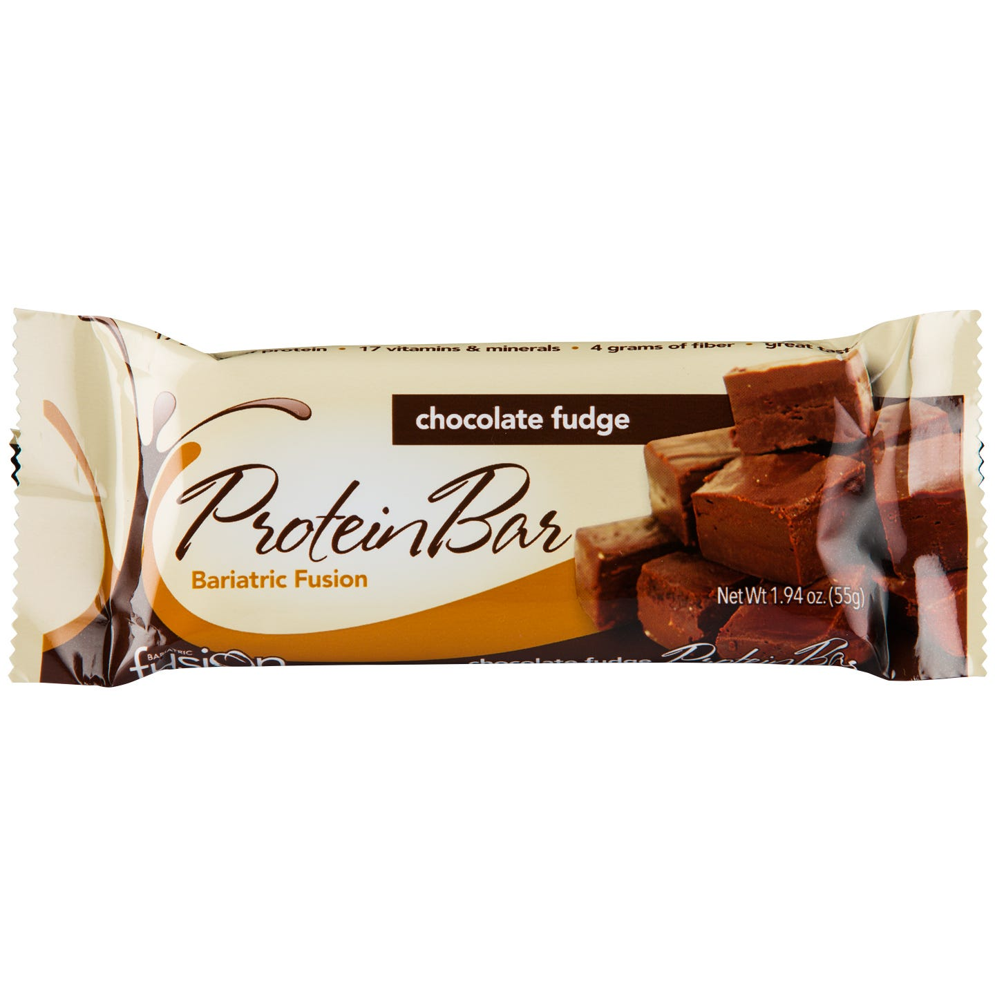 Protein Bar Chocolate Fudge 12 Bars, Bariatric Fusion - Rapid Diet Weight Loss Products Shop