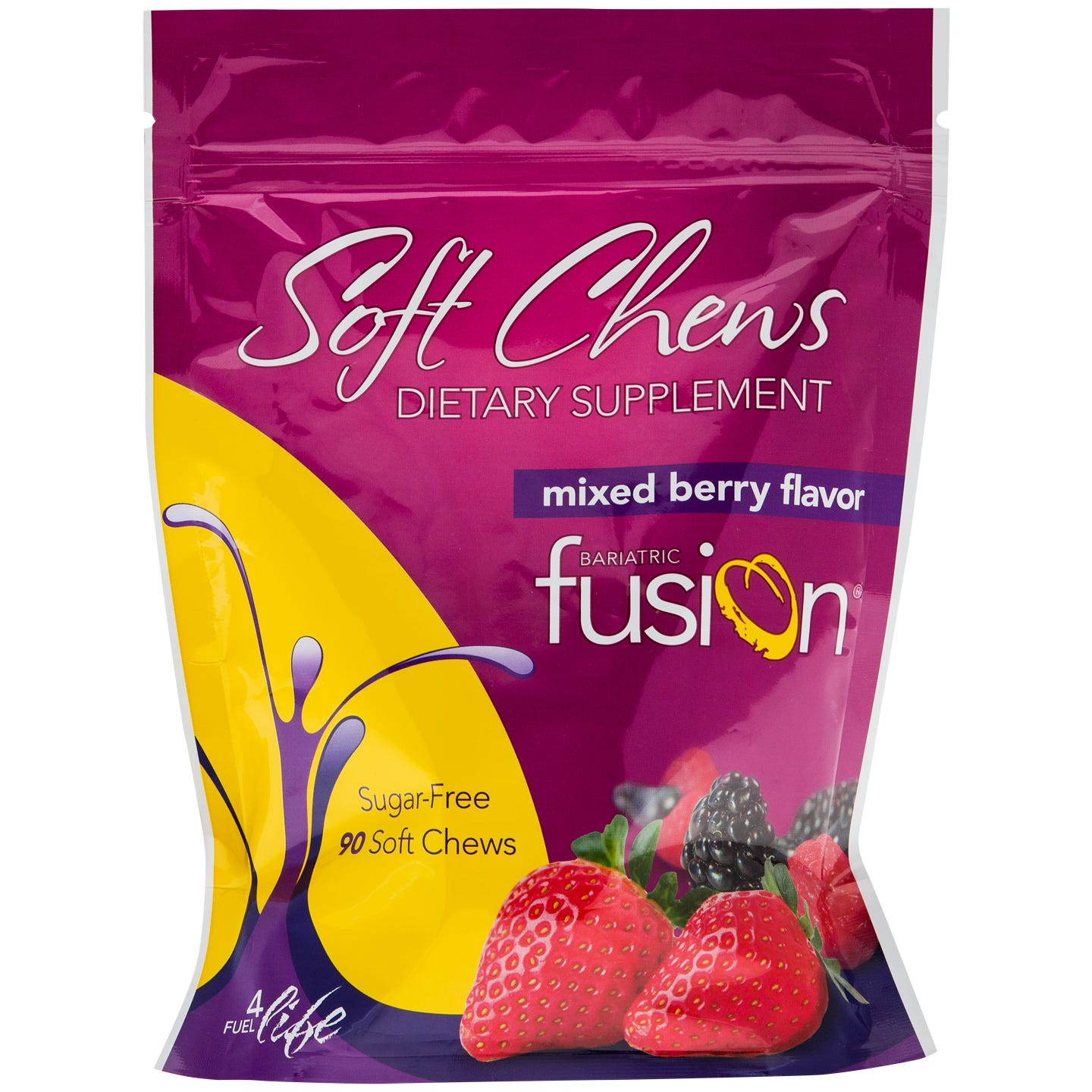 MultiVitamin Soft Chews Mixed Berry (90 ct) - Bariatric Fusion - Rapid Diet Weight Loss Products Shop