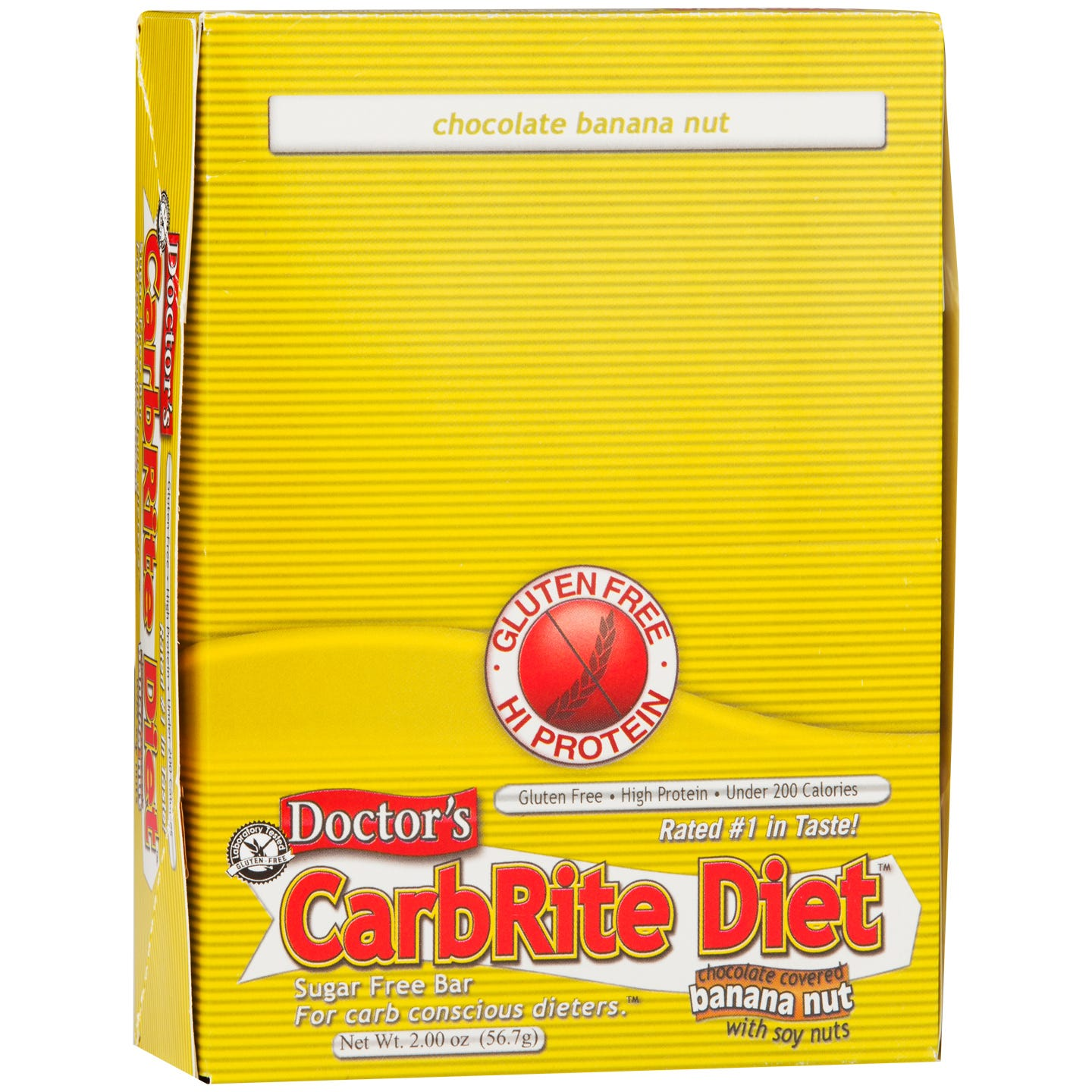 Protein Bars Banana Nut (12 ct) - Doctor's CarbRite Diet - Rapid Diet Weight Loss Products Shop