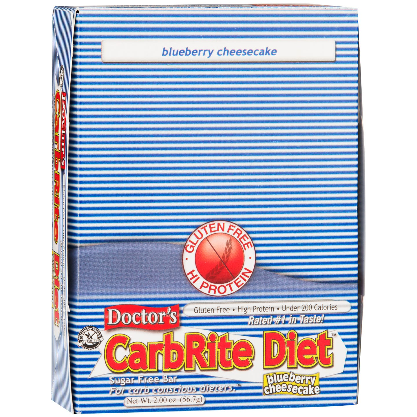 Protein Bars Blueberry Cheesecake (12 ct) - Doctor's CarbRite Diet - Rapid Diet Weight Loss Products Shop