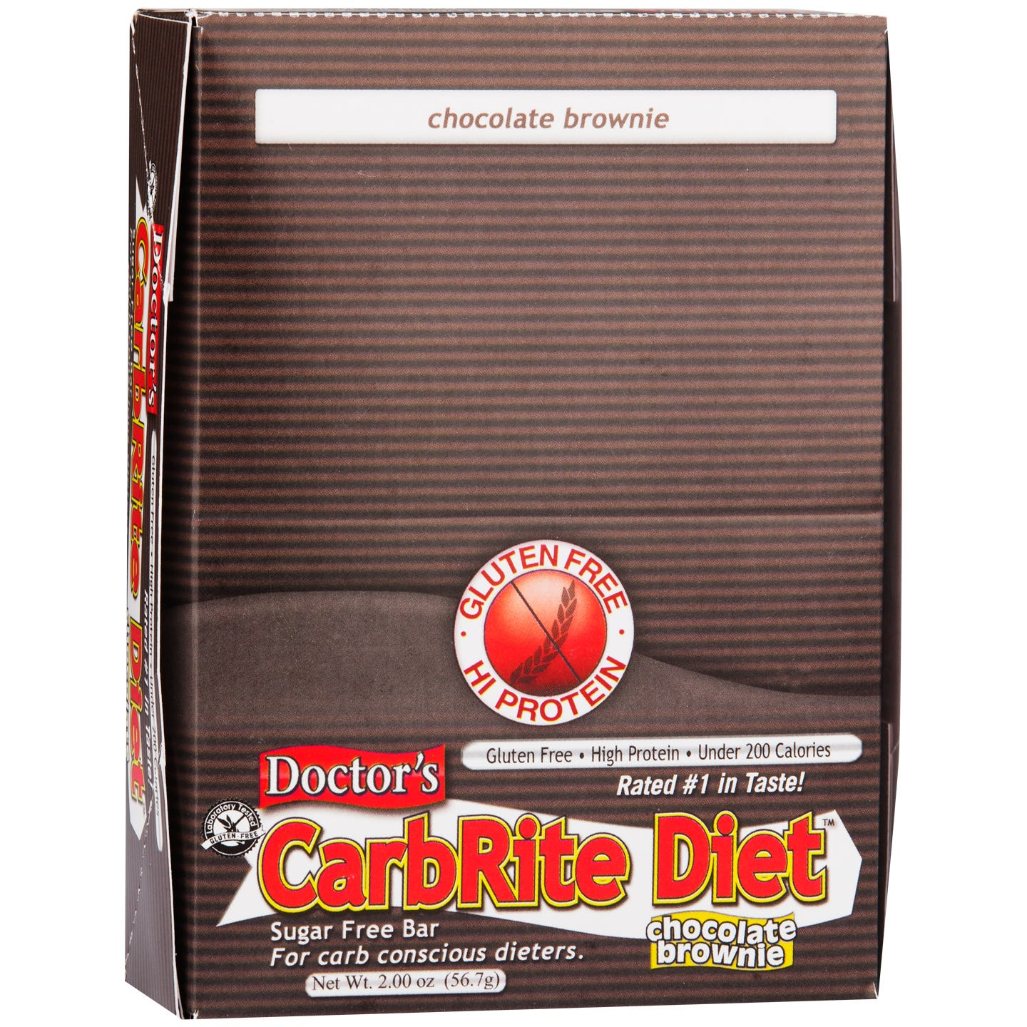 Protein Bars Chocolate Brownie (12 ct) - Doctor's CarbRite Diet - Rapid Diet Weight Loss Products Shop