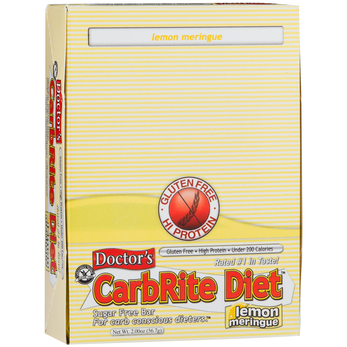 Protein Bars Lemon Meringue (12 ct) - Doctor's CarbRite Diet - Rapid Diet Weight Loss Products Shop