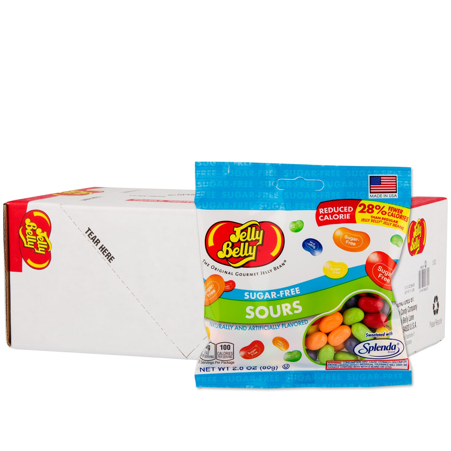 Sugar-Free Jelly Bean Sours (12 ct) - Jelly Belly - Rapid Diet Weight Loss Products Shop