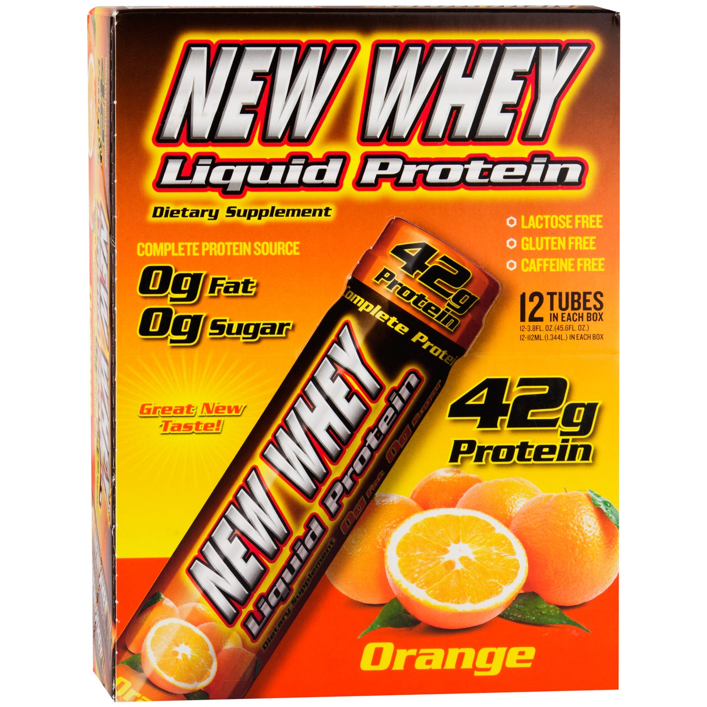 Liquid Protein 42g Orange (12 ct) - New Whey Liquid Protein - Rapid Diet Weight Loss Products Shop