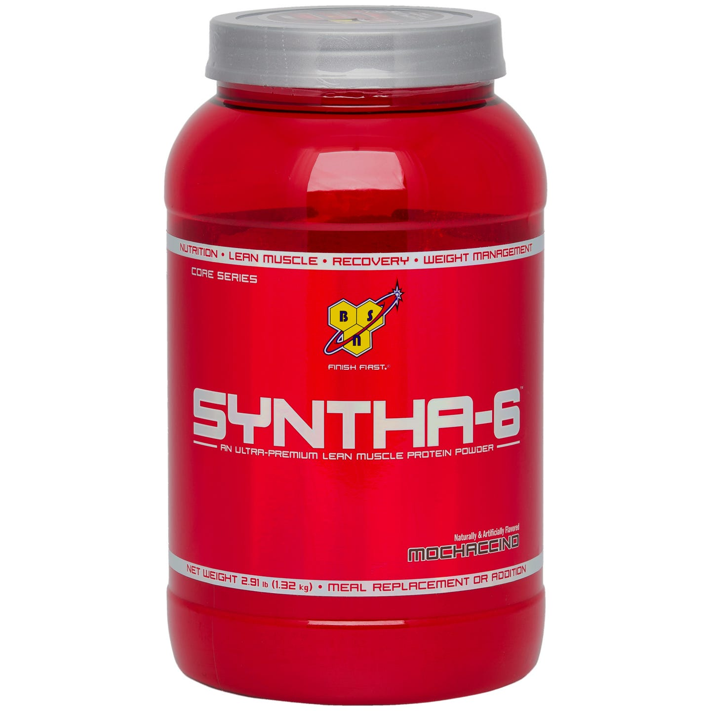 BSN Syntha-6 Sustained Release Protein Powder (2.9 lb. Container) - Mochaccino