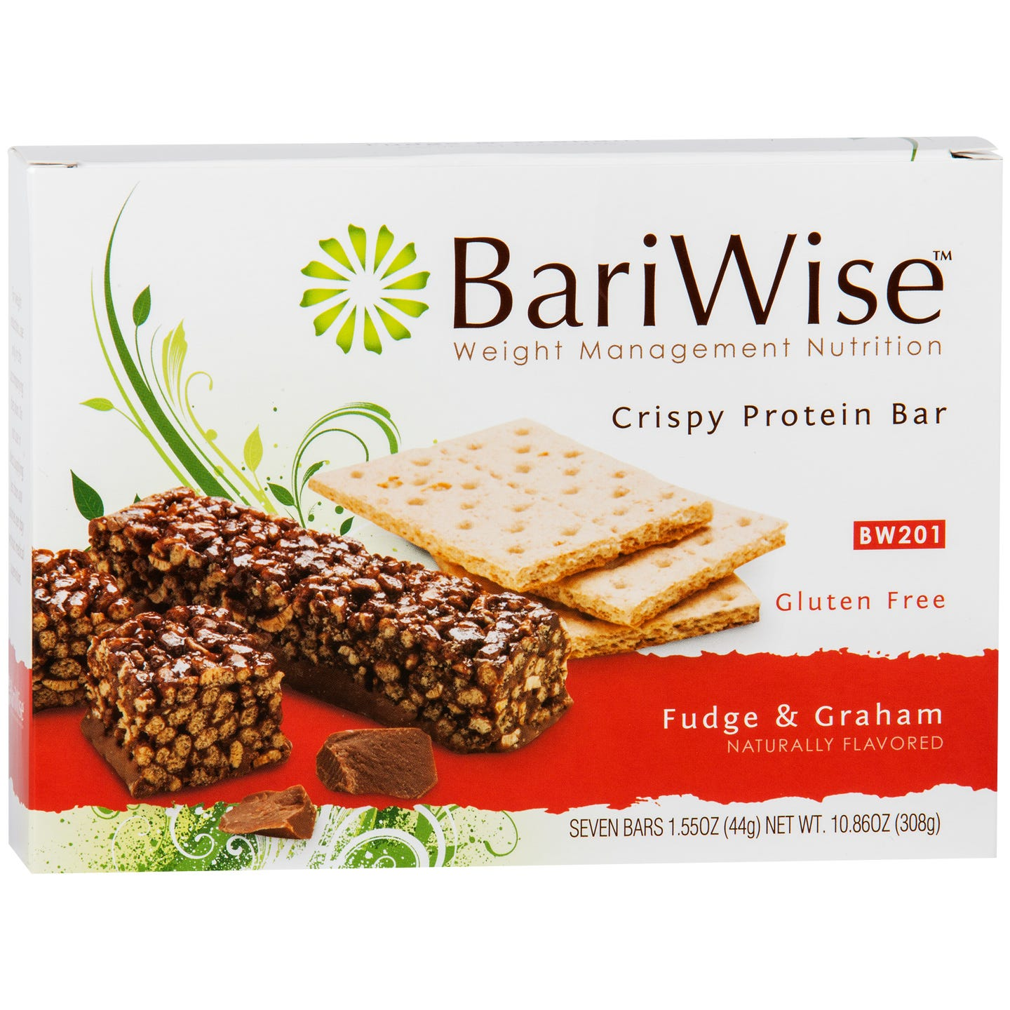 Crispy Protein Bar Fudge & Graham (7 ct) - BariWise - Rapid Diet Weight Loss Products Shop