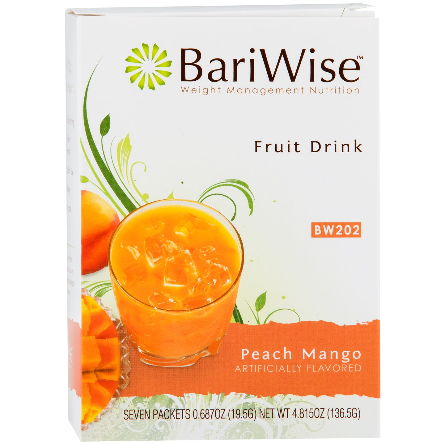 Protein Diet Fruit Drink Peach Mango (7 ct) - BariWise - Rapid Diet Weight Loss Products Shop