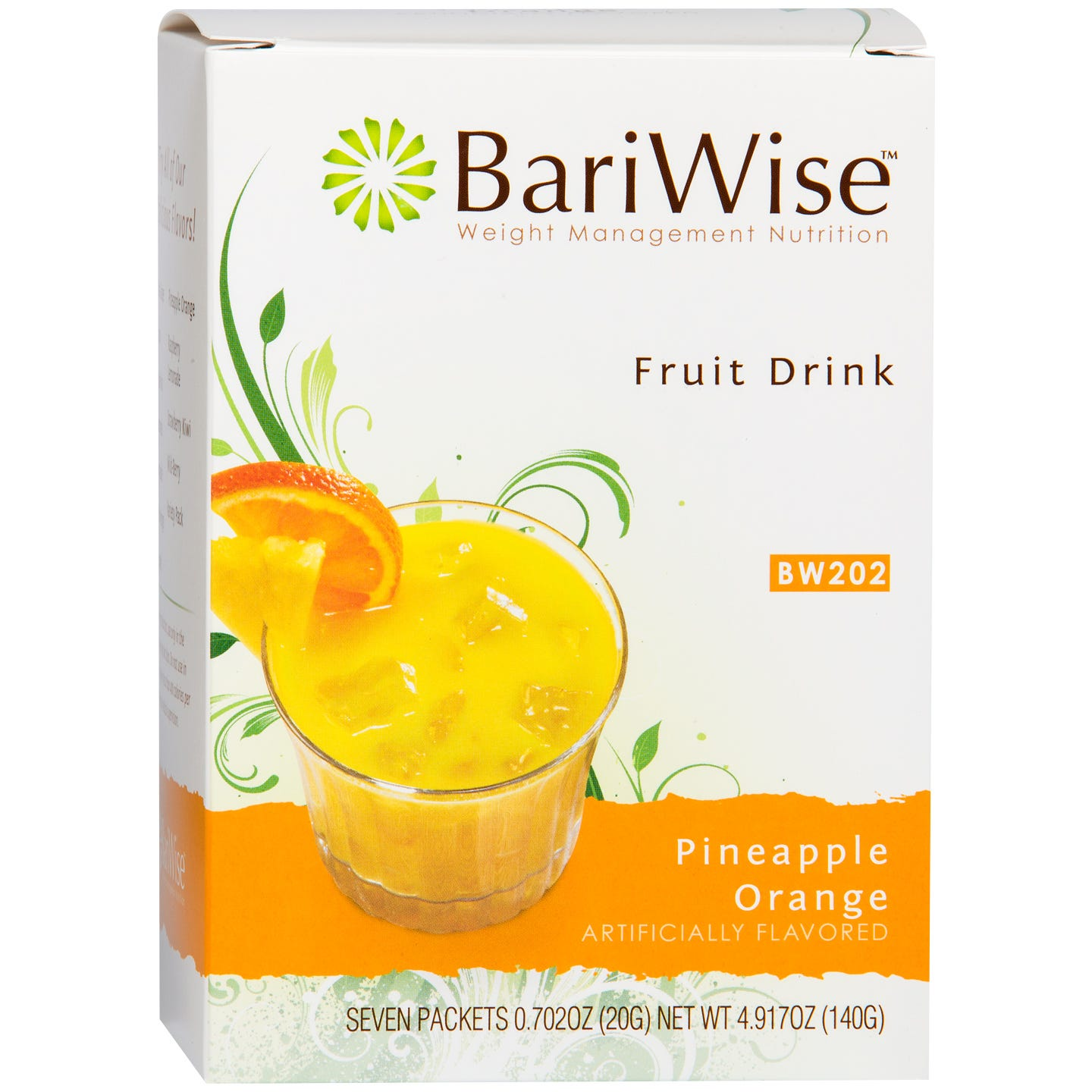 Protein Diet Fruit Drink Pineapple Orange (7 ct) - BariWise - Rapid Diet Weight Loss Products Shop