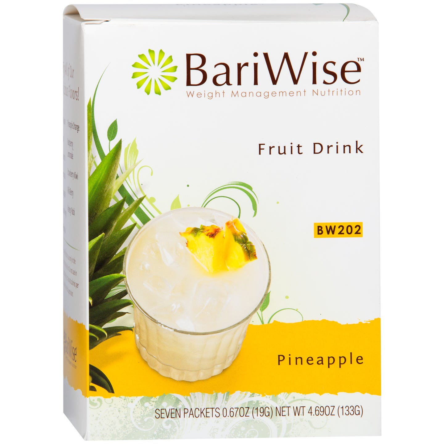 Protein Diet Fruit Drink Pineapple (7 ct) - BariWise - Rapid Diet Weight Loss Products Shop