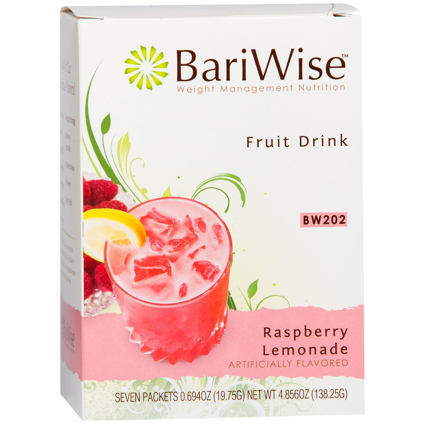 Protein Diet Fruit Drink Raspberry Lemonade (7 ct) - BariWise - Rapid Diet Weight Loss Products Shop