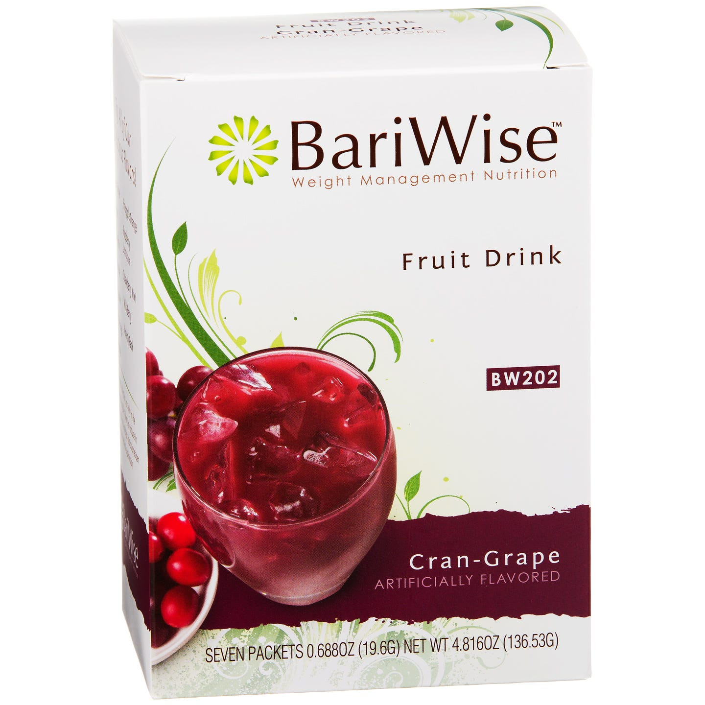 Protein Diet Fruit Drink Cran-Grape (7 ct) - BariWise - Rapid Diet Weight Loss Products Shop