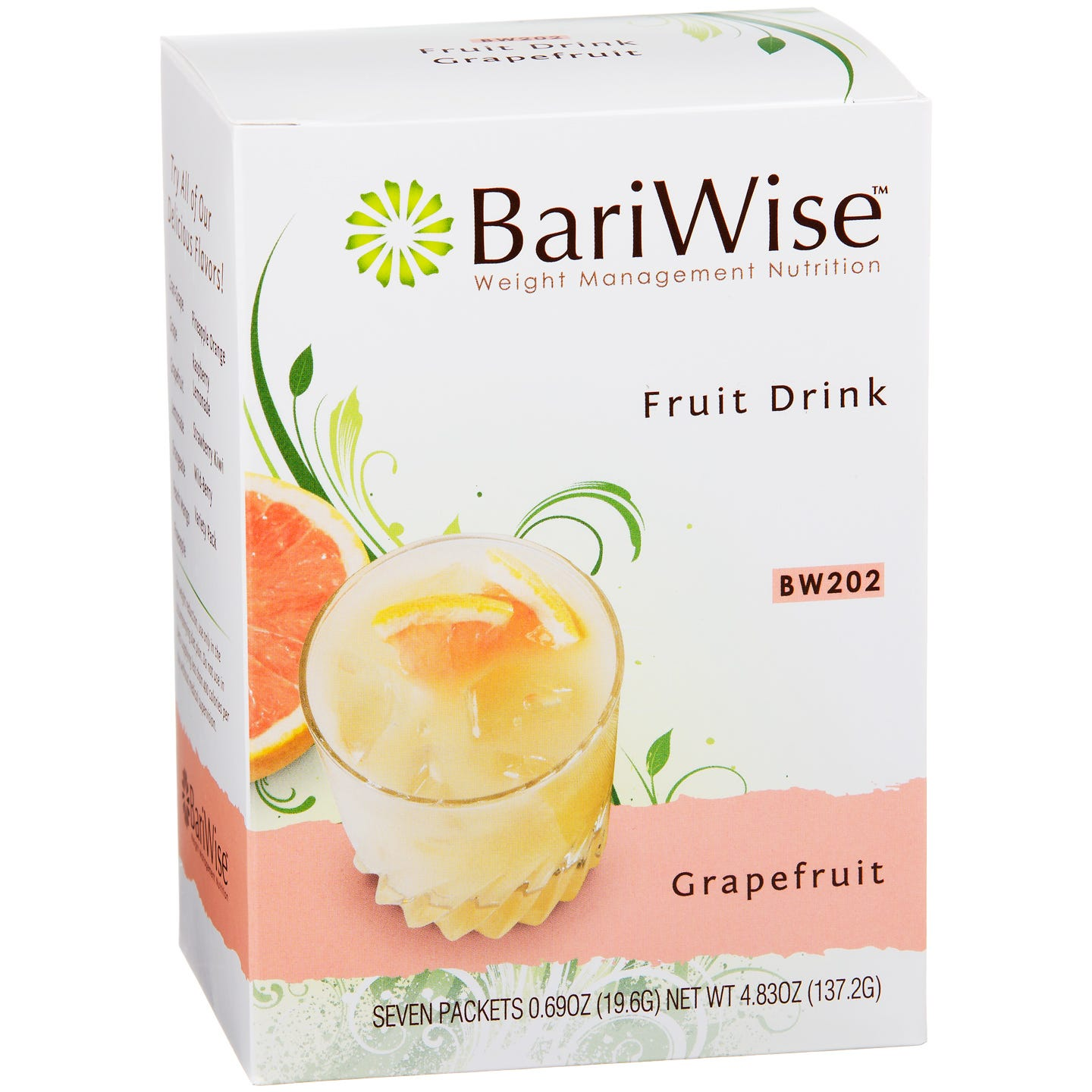 Protein Diet Fruit Drink Grapefruit (7 ct) - BariWise - Rapid Diet Weight Loss Products Shop