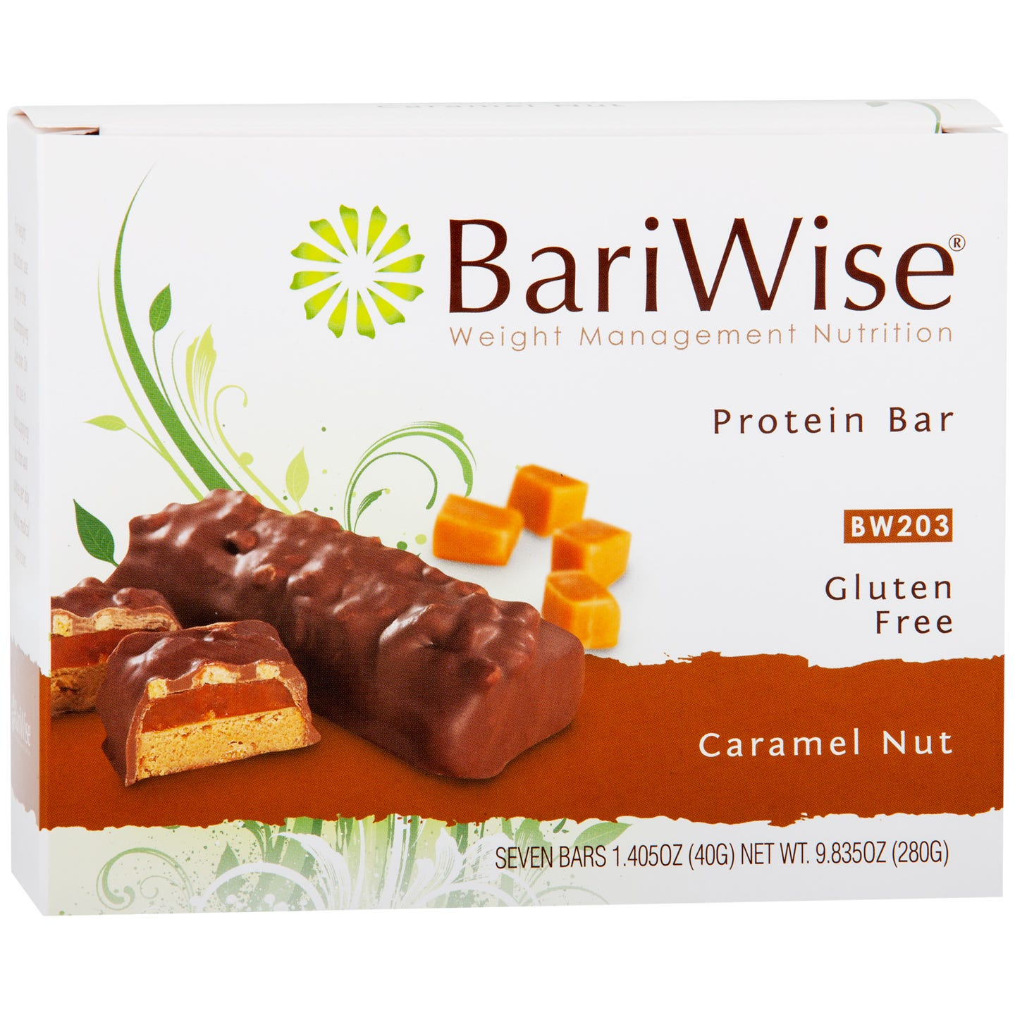 Protein Diet Bar Caramel Nut (7 Ct) - BariWise