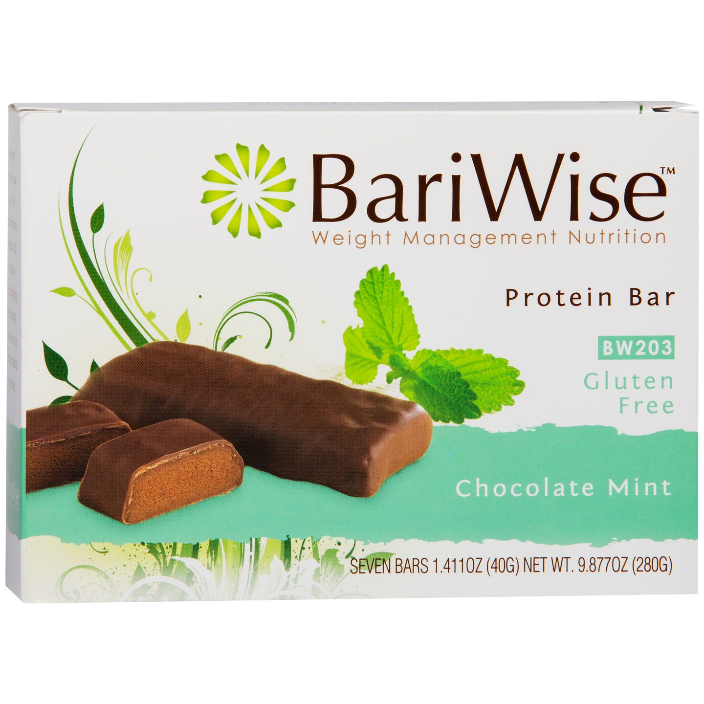 Protein Diet Bar Chocolate Mint (7 ct) - BariWise - Rapid Diet Weight Loss Products Shop