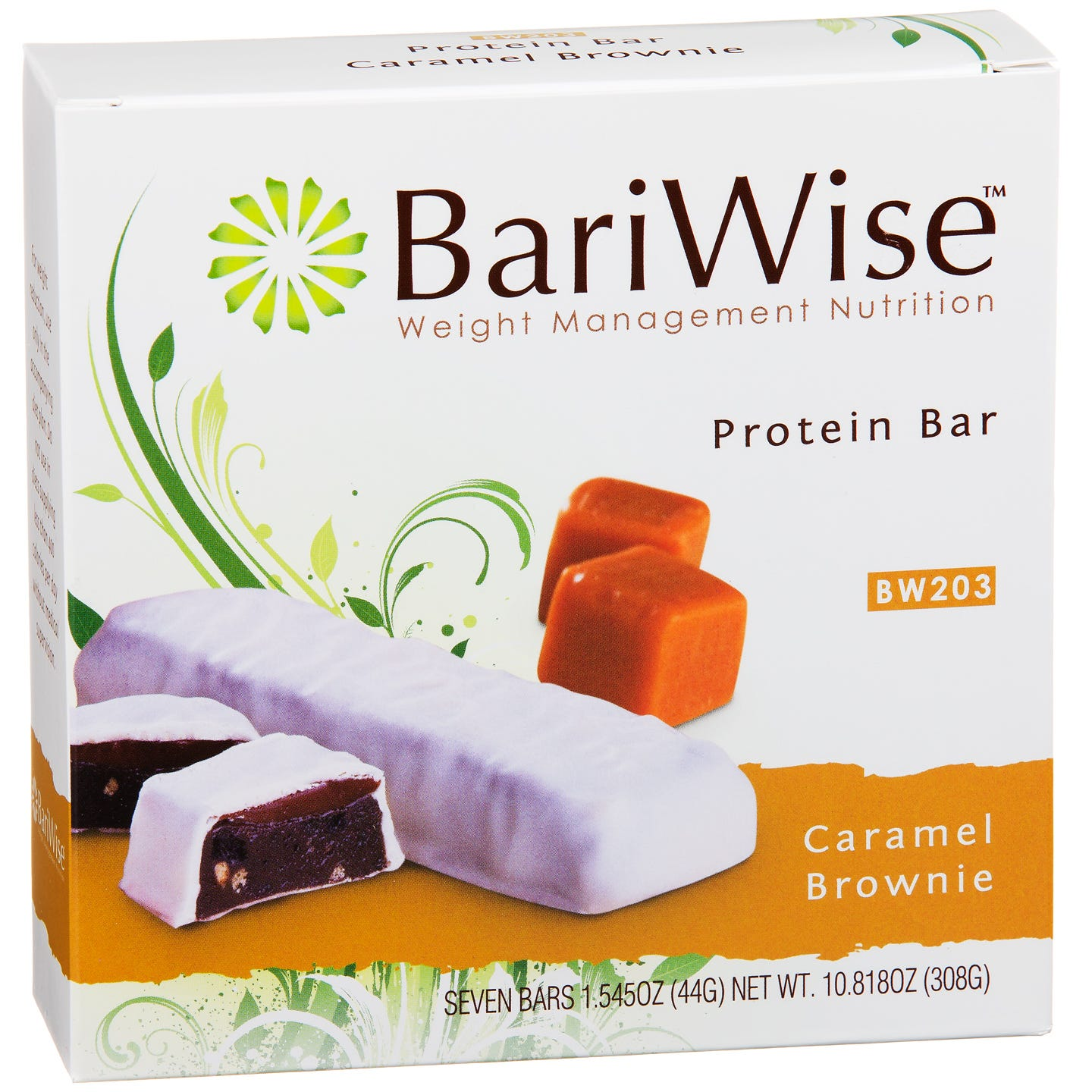 Protein Diet Bar Caramel Brownie (7 Ct) - BariWise