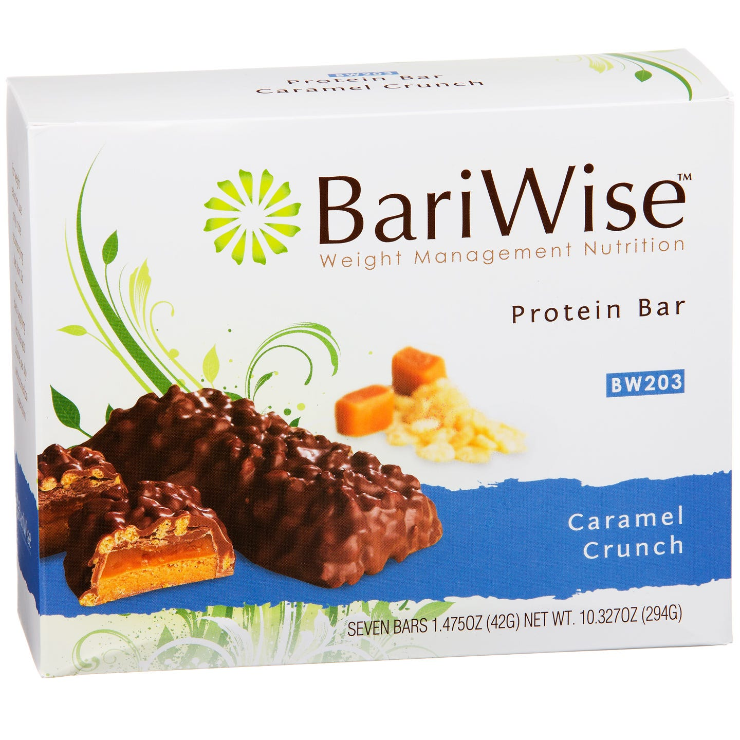 Protein Diet Bar Caramel Crunch (7 ct) - BariWise - Rapid Diet Weight Loss Products Shop