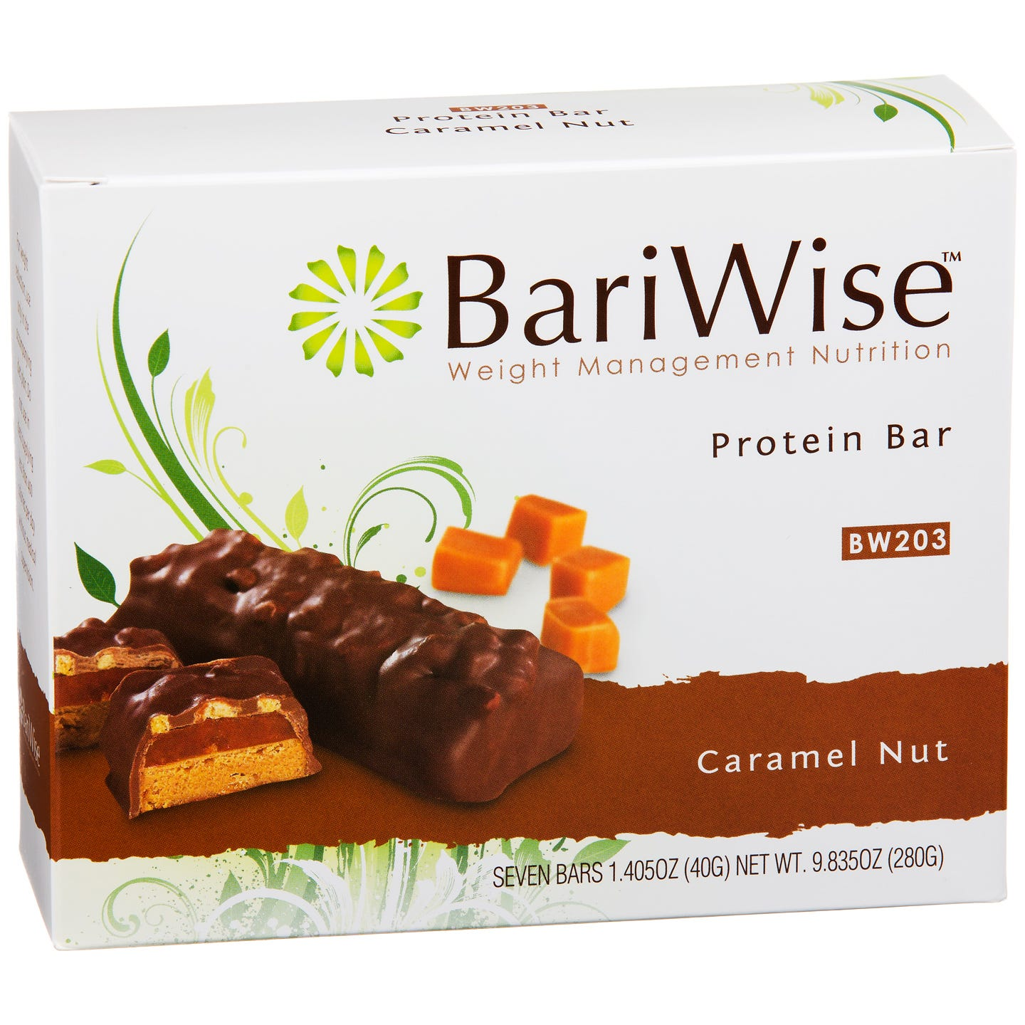 Protein Diet Bar Caramel Nut (7 ct) - BariWise - Rapid Diet Weight Loss Products Shop