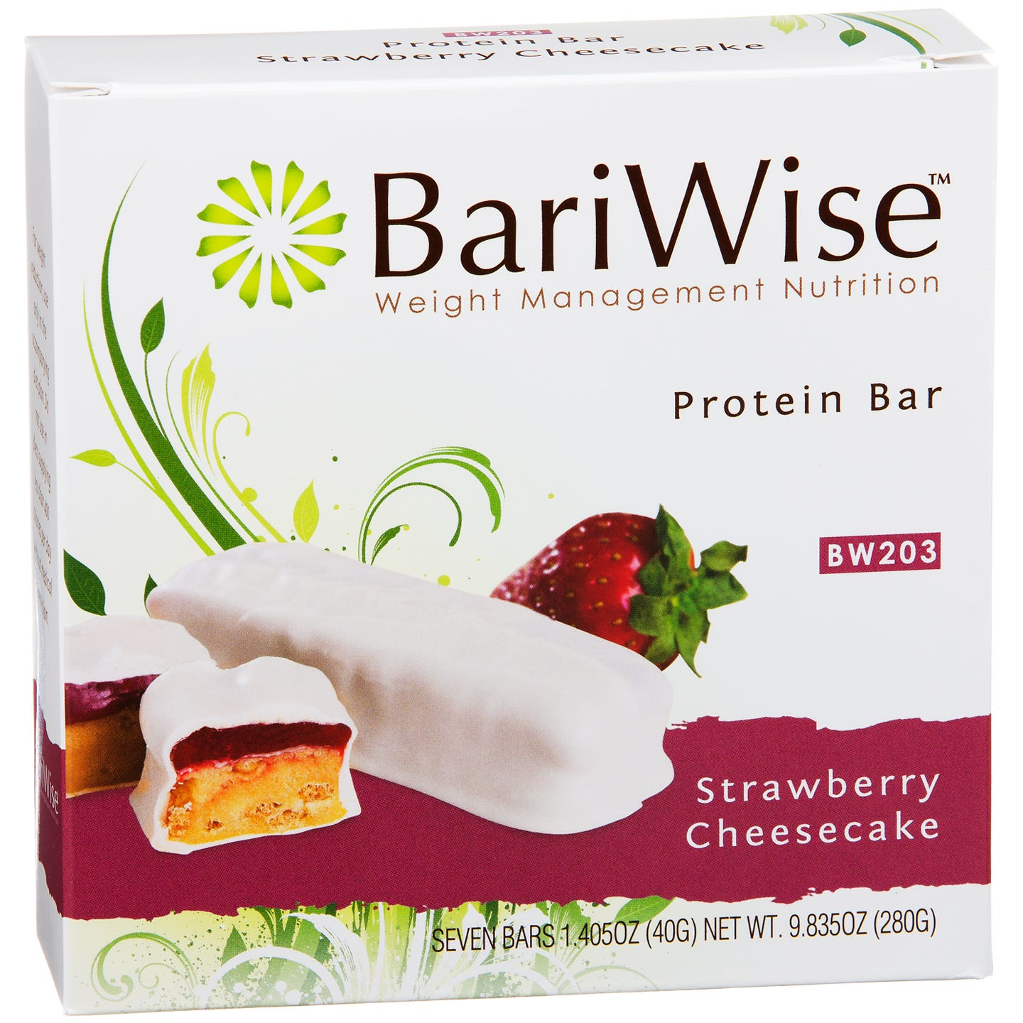 Protein Diet Bar Strawberry Cheesecake (7 ct) - BariWise - Rapid Diet Weight Loss Products Shop
