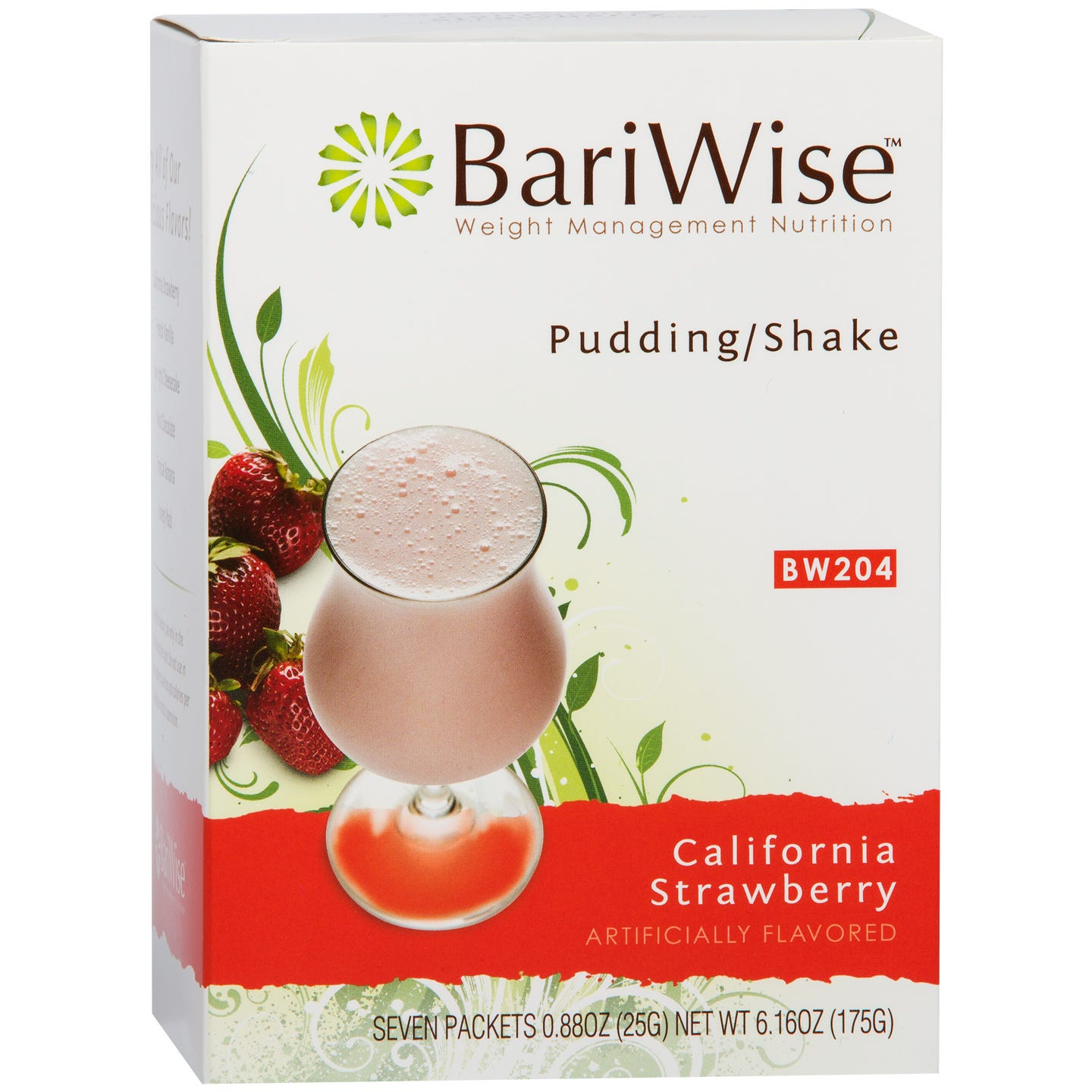 Protein Diet Pudding/Shake California Strawberry (7 Ct) - BariWise