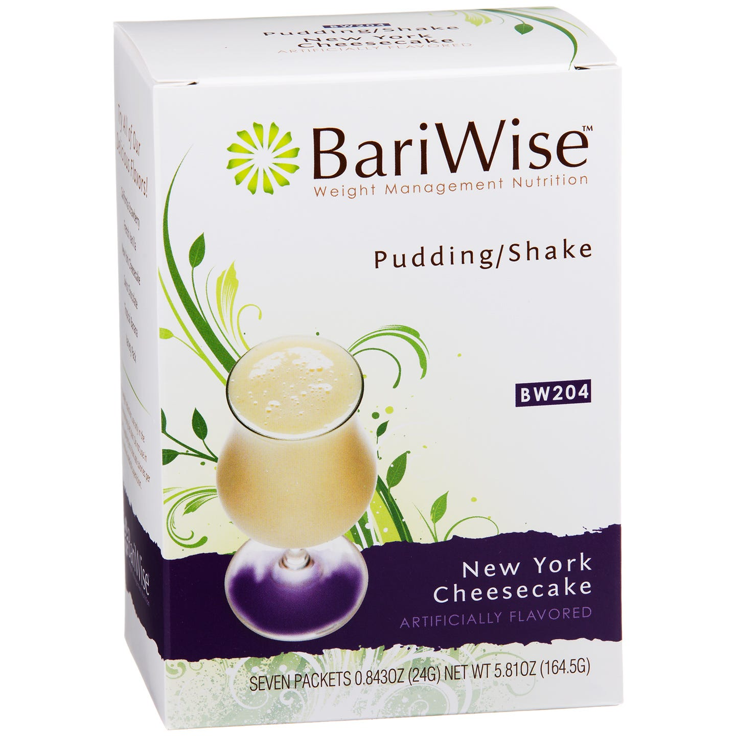 Protein Diet Pudding/Shake New York Cheesecake (7 Ct) - BariWise