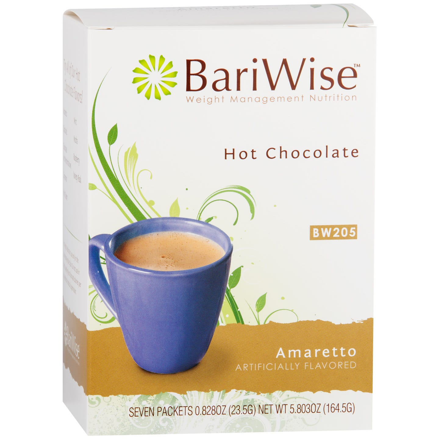 Protein Diet Hot Chocolate Amaretto (7 ct) - BariWise - Rapid Diet Weight Loss Products Shop