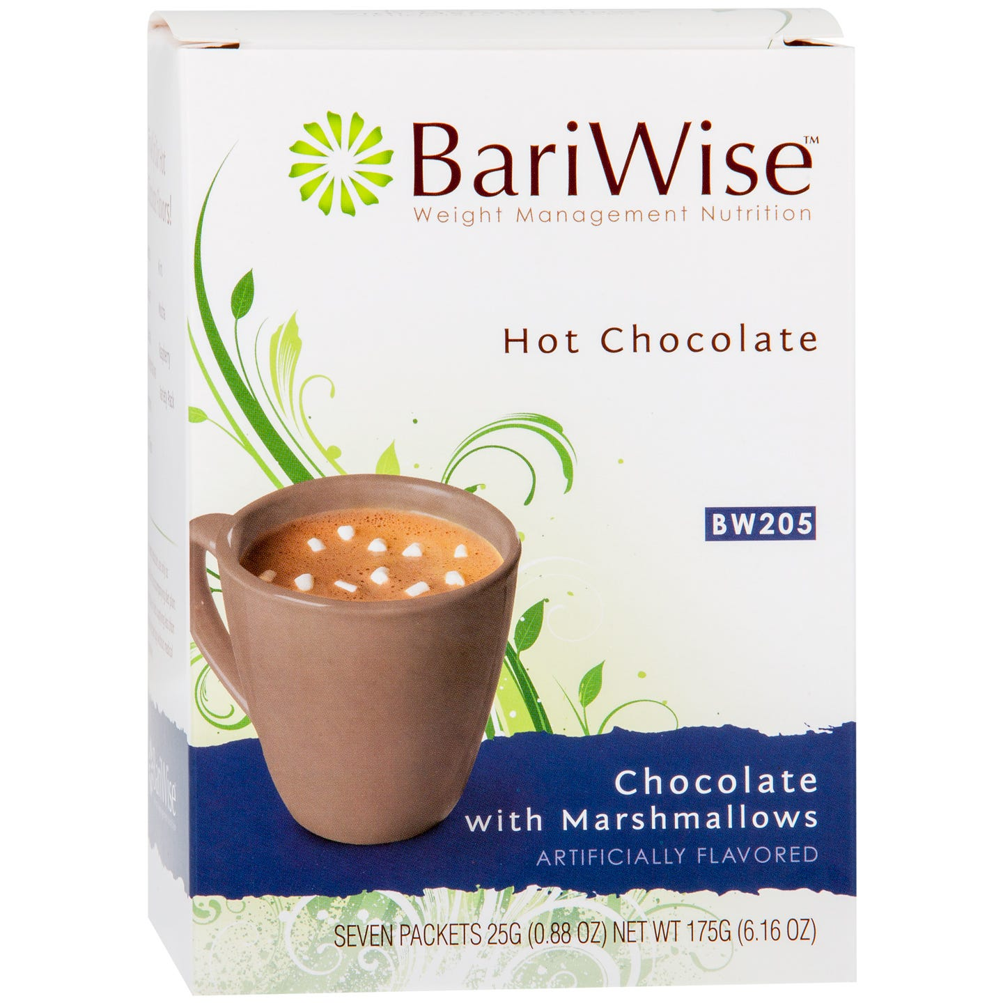 Protein Diet Hot Chocolate Chocolate and Marshmallows (7 Ct) - BariWise