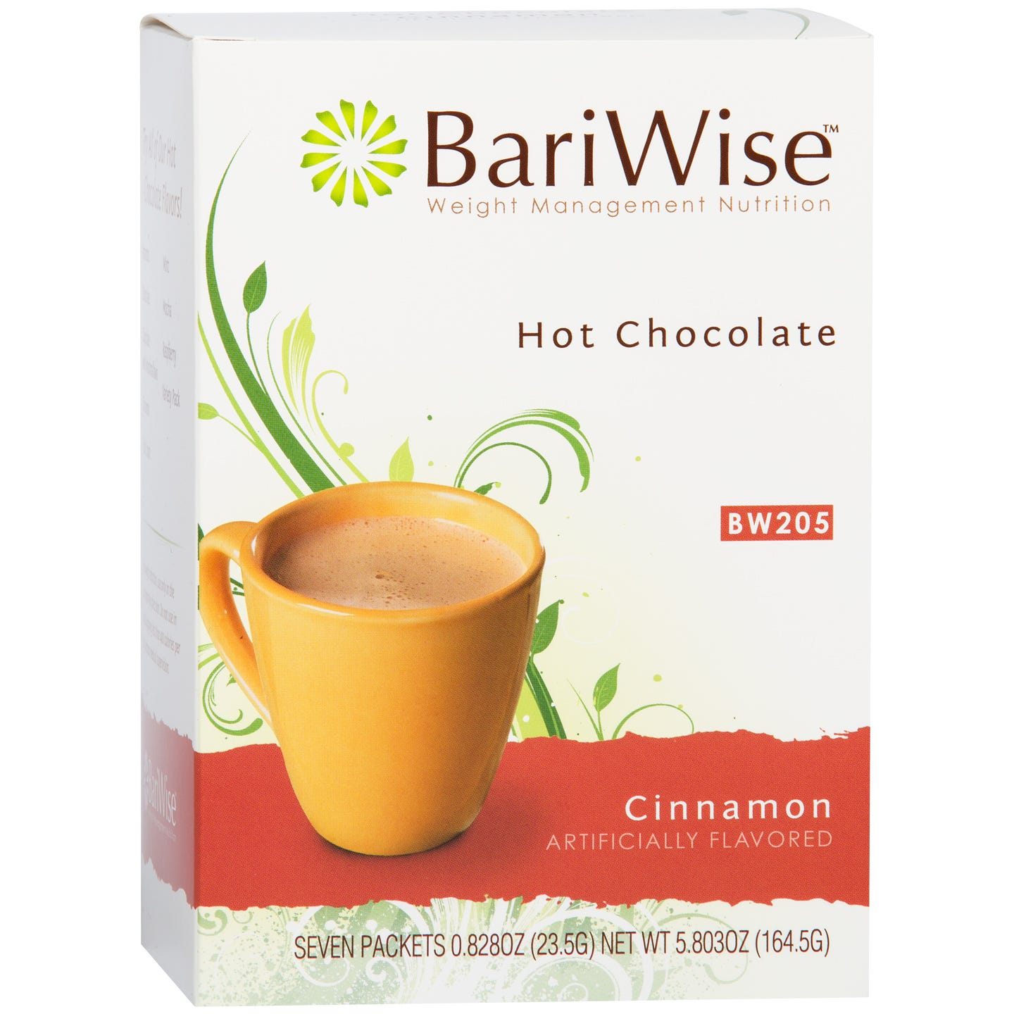 Protein Diet Hot Chocolate Cinnamon (7 ct) - BariWise - Rapid Diet Weight Loss Products Shop