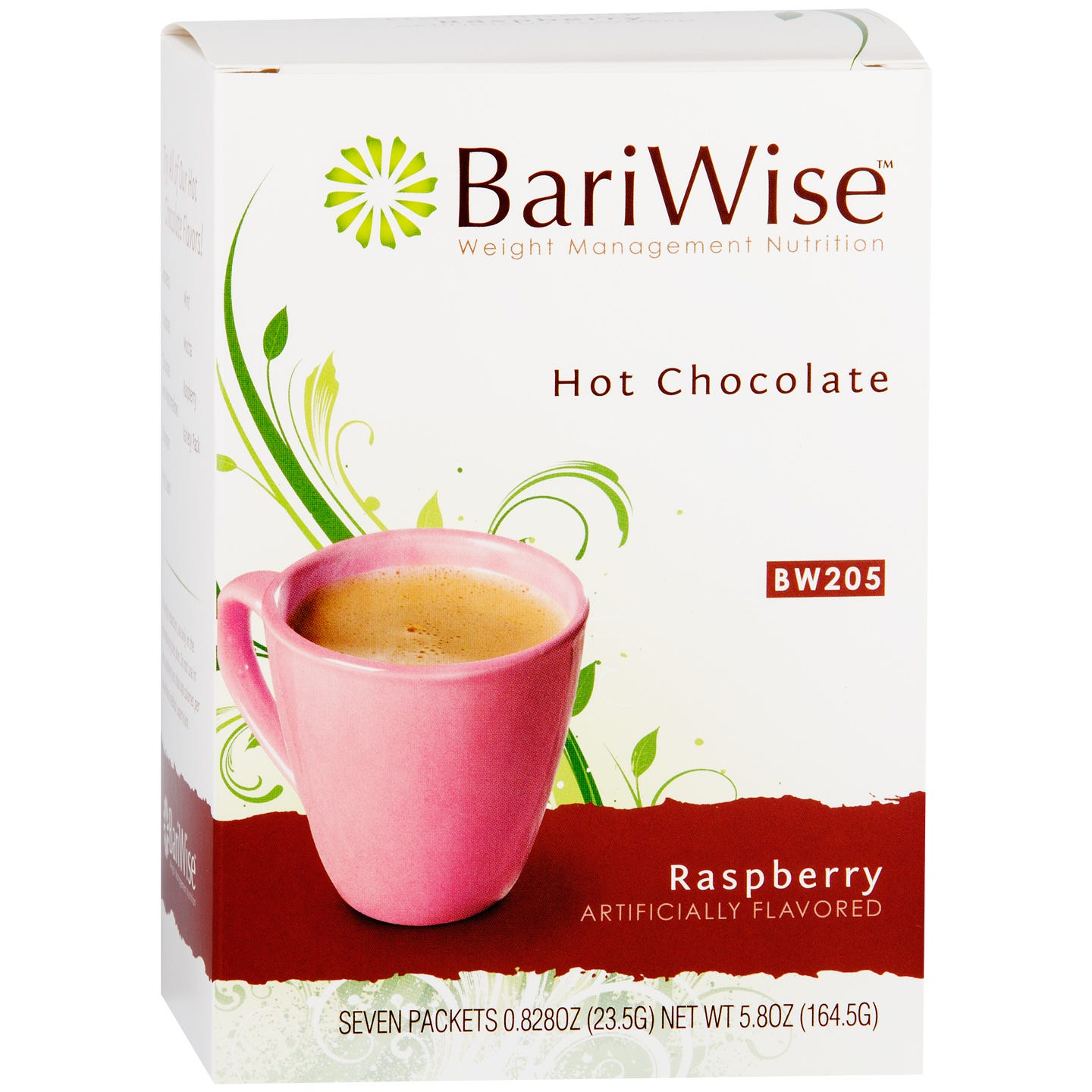 Protein Diet Hot Chocolate Raspberry (7 ct) - BariWise - Rapid Diet Weight Loss Products Shop
