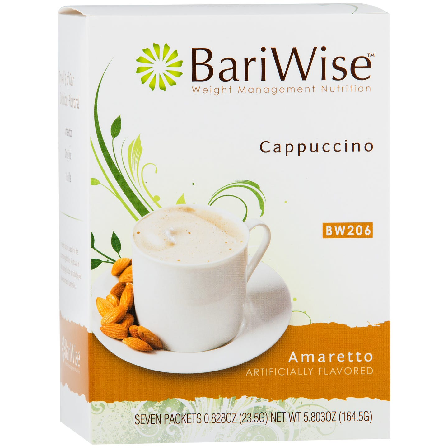 Protein Diet Cappuccino Amaretto (7 ct) - BariWise - Rapid Diet Weight Loss Products Shop