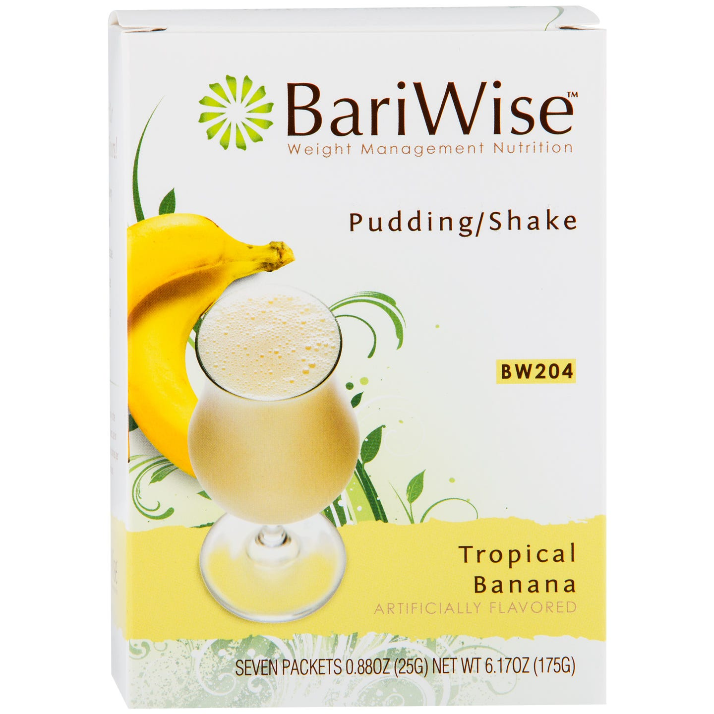 Protein Diet Pudding/Shake Tropical Banana (7 Ct) - BariWise