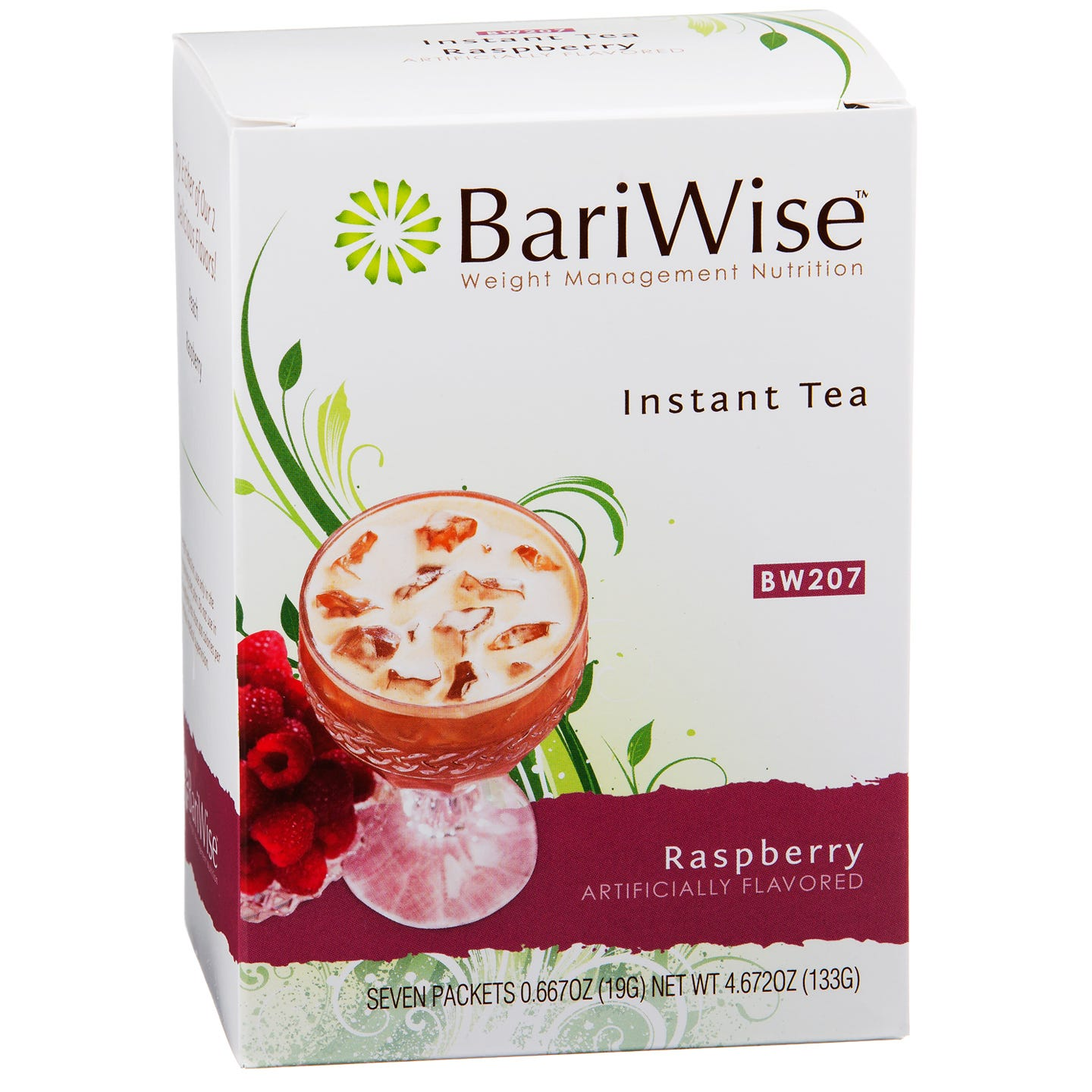 BariWise Decaffeinated Protein Instant Tea - Raspberry