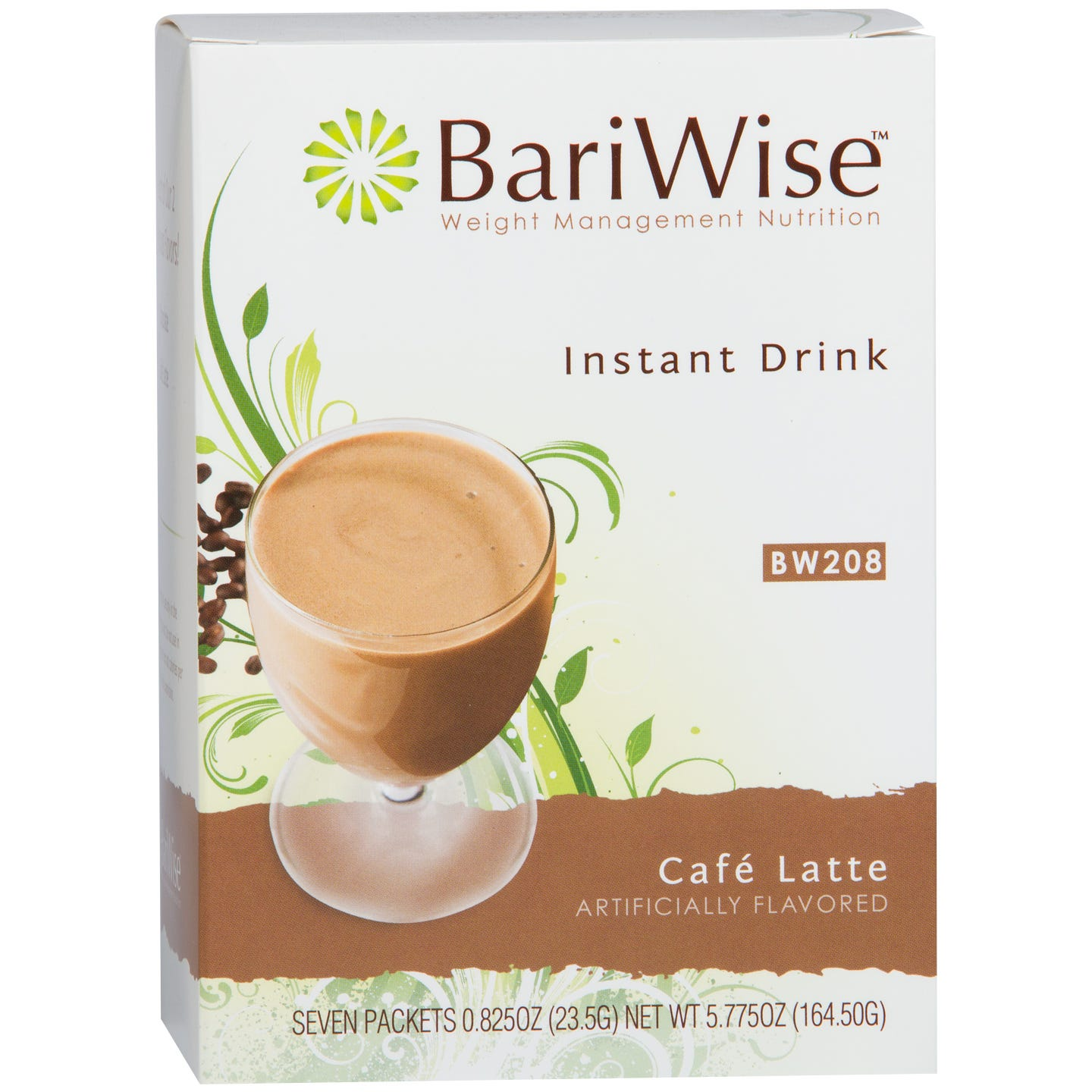 BariWise Instant Protein Drink(7 ct) - Cafe Latte - Rapid Diet Weight Loss Products Shop
